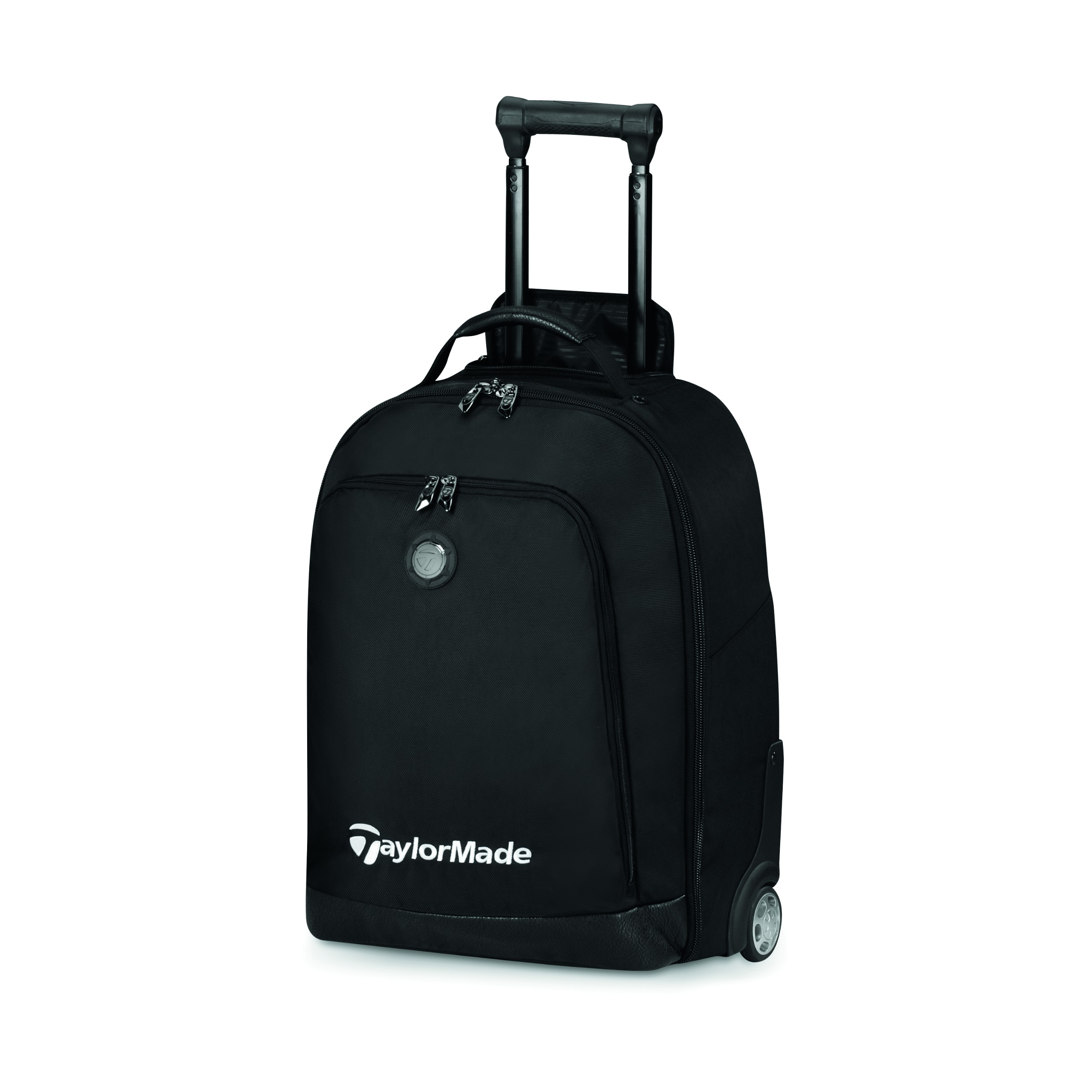Taylormade Golf Players Rolling Carry On Luggage Bag Black