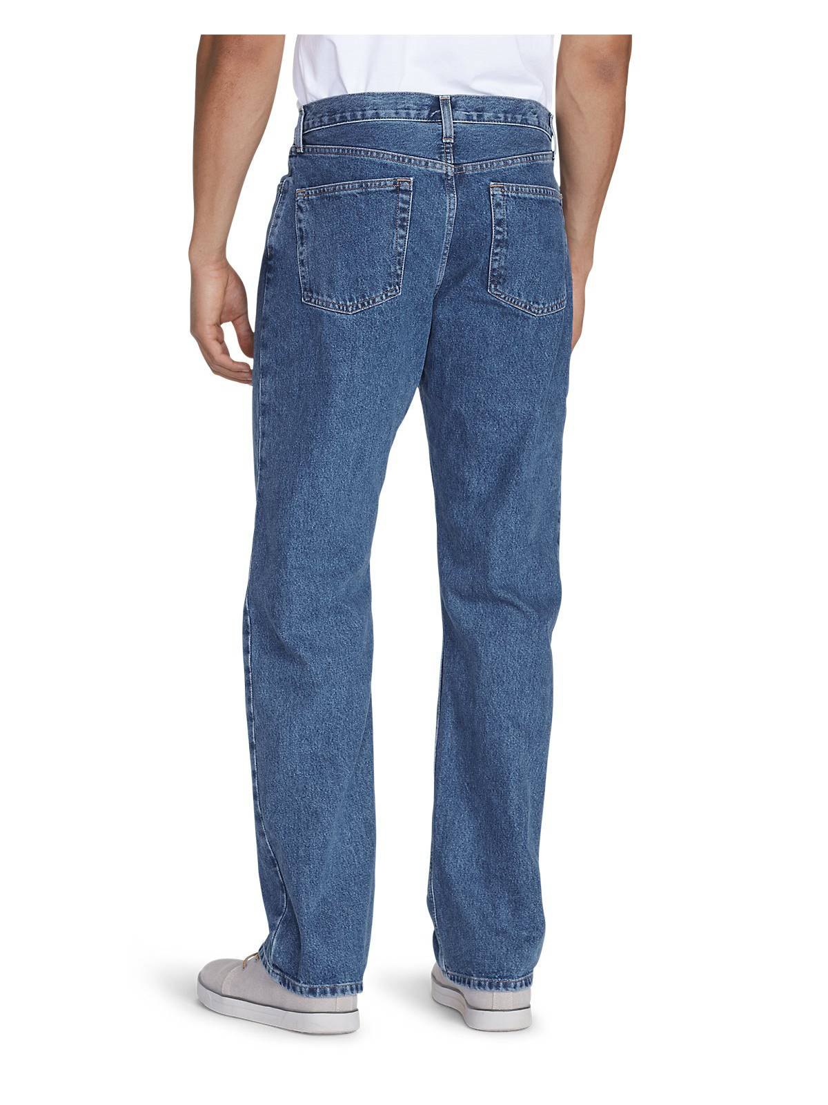 Eddie-Bauer-Men-039-s-Relaxed-Fit-Essential-Jeans thumbnail 5