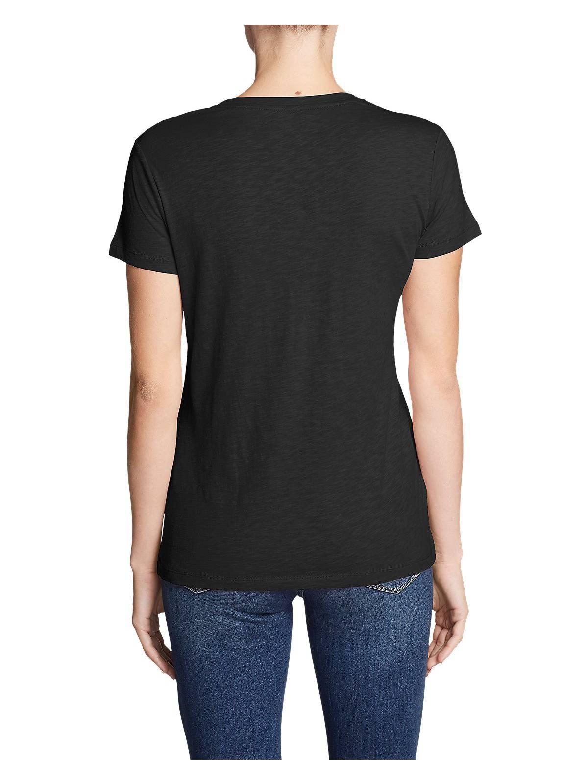 Eddie-Bauer-Women-039-s-Legend-Wash-Slub-Short-Sleeve-V-Neck-T-Shirt thumbnail 3