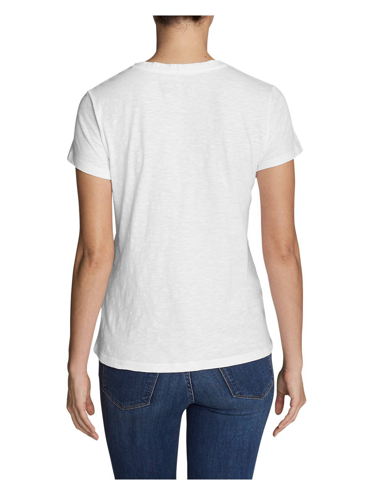Eddie-Bauer-Women-039-s-Legend-Wash-Slub-Short-Sleeve-V-Neck-T-Shirt thumbnail 11