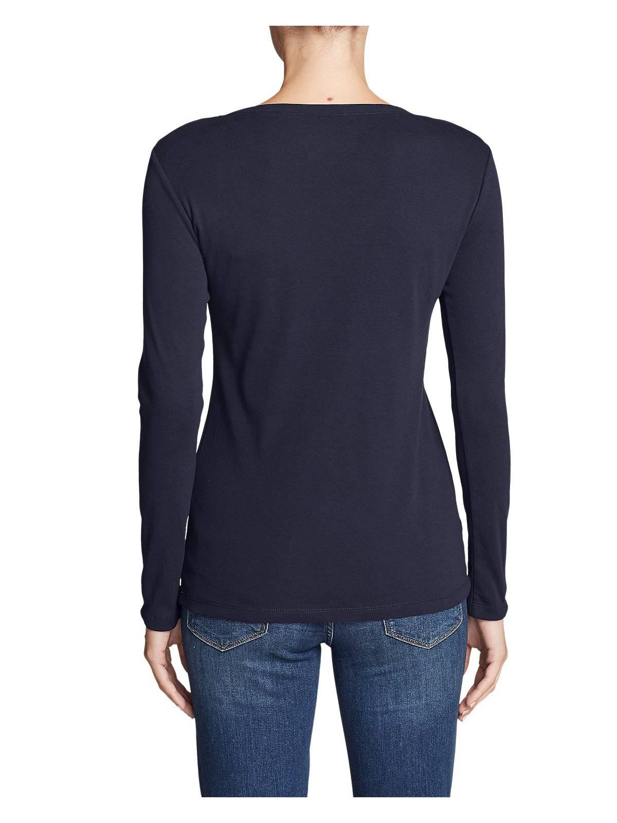 Eddie-Bauer-Women-039-s-Favorite-Long-Sleeve-Crewneck-T-Shirt thumbnail 3