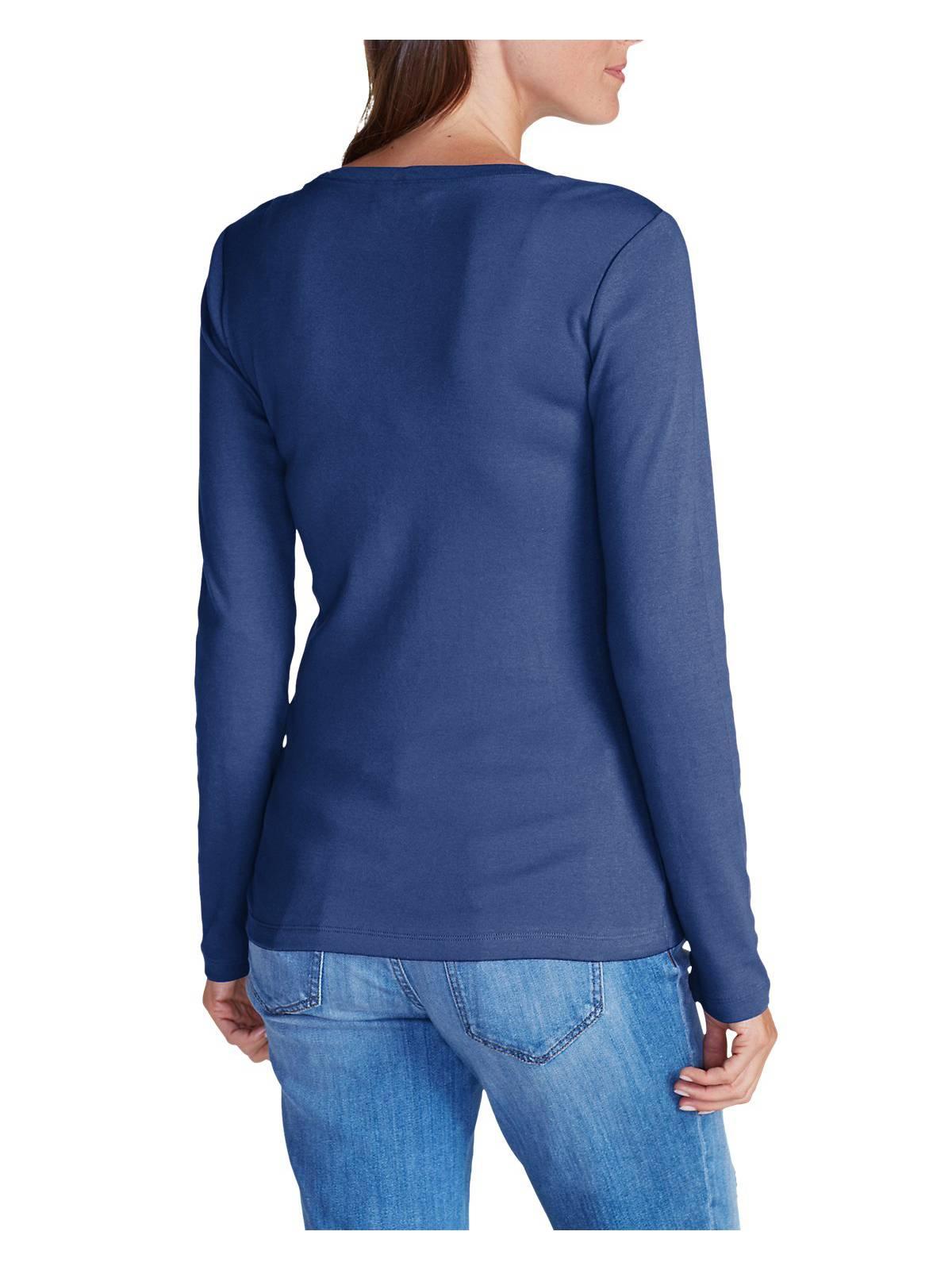 Eddie-Bauer-Women-039-s-Favorite-Long-Sleeve-V-Neck-T-Shirt thumbnail 13