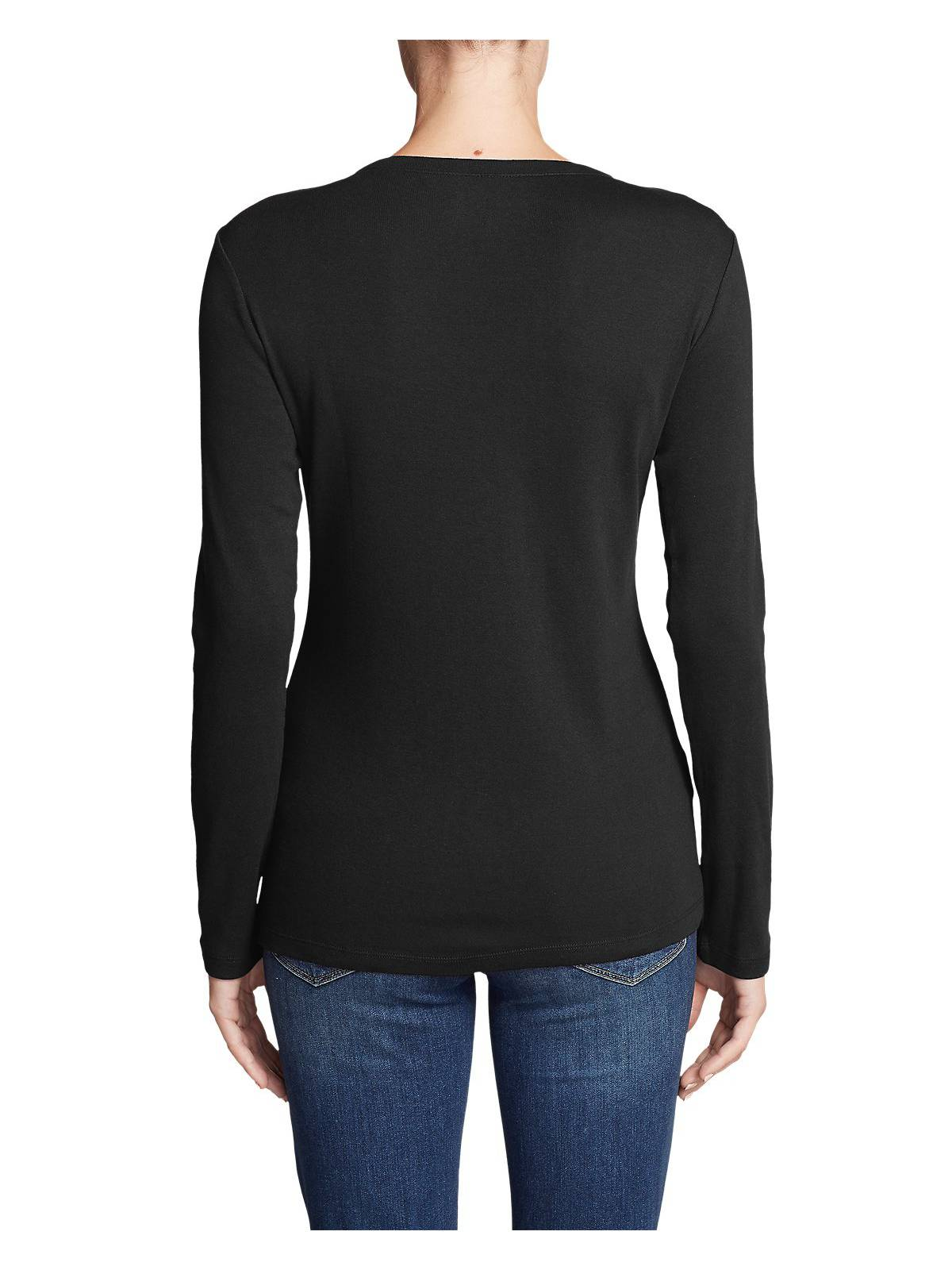 Eddie-Bauer-Women-039-s-Favorite-Long-Sleeve-V-Neck-T-Shirt thumbnail 4