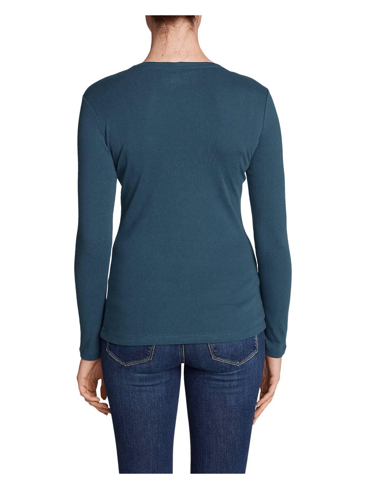 Eddie-Bauer-Women-039-s-Favorite-Long-Sleeve-V-Neck-T-Shirt thumbnail 10