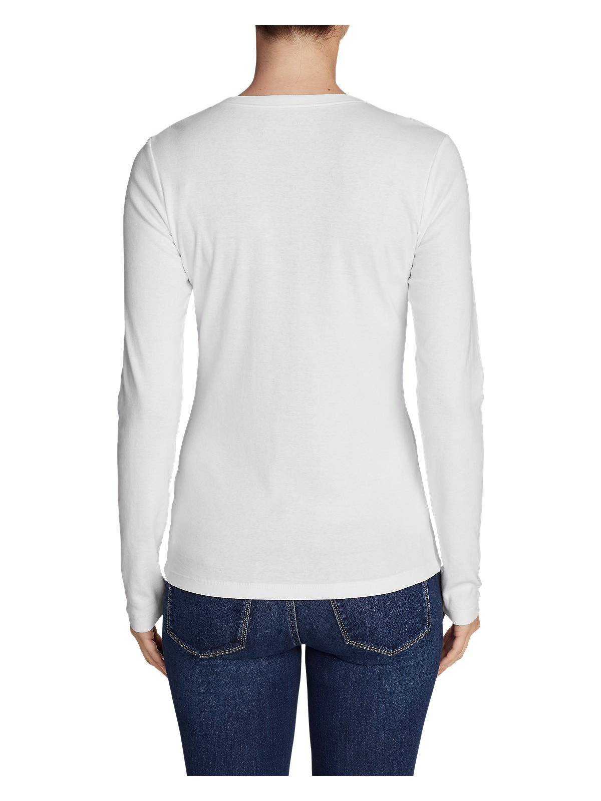Eddie-Bauer-Women-039-s-Favorite-Long-Sleeve-V-Neck-T-Shirt thumbnail 31