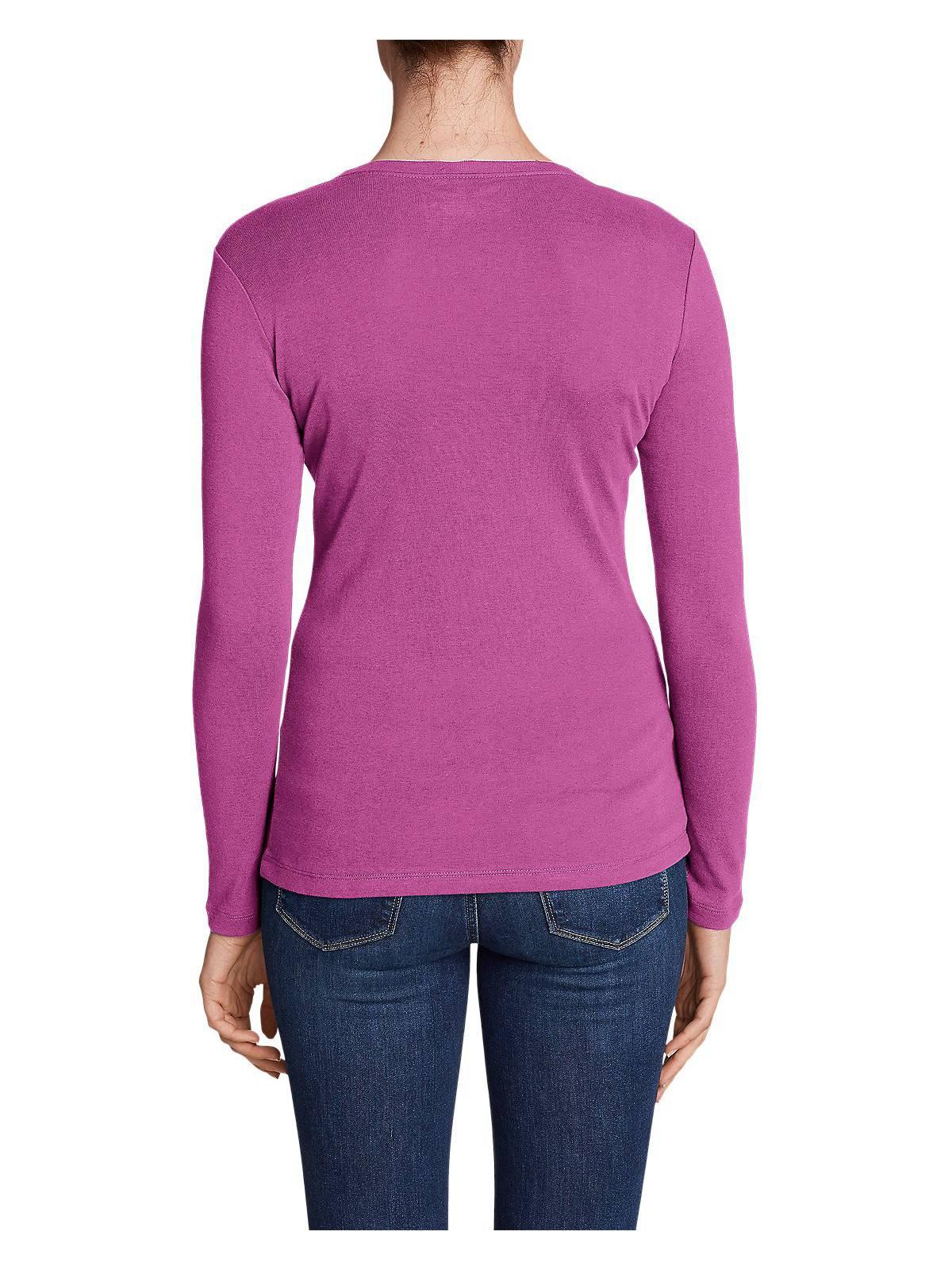 Eddie-Bauer-Women-039-s-Favorite-Long-Sleeve-V-Neck-T-Shirt thumbnail 23