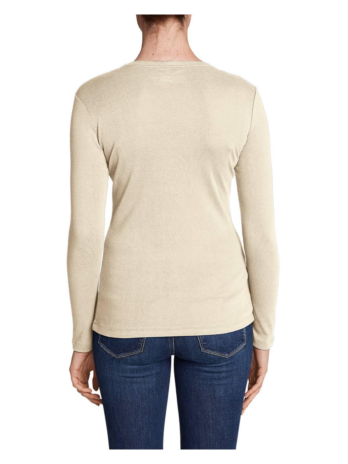 Eddie-Bauer-Women-039-s-Favorite-Long-Sleeve-V-Neck-T-Shirt thumbnail 15