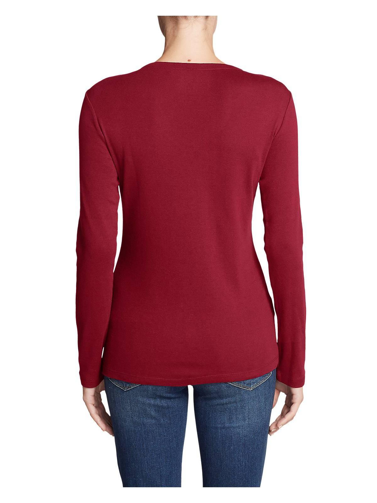 Eddie-Bauer-Women-039-s-Favorite-Long-Sleeve-V-Neck-T-Shirt thumbnail 29