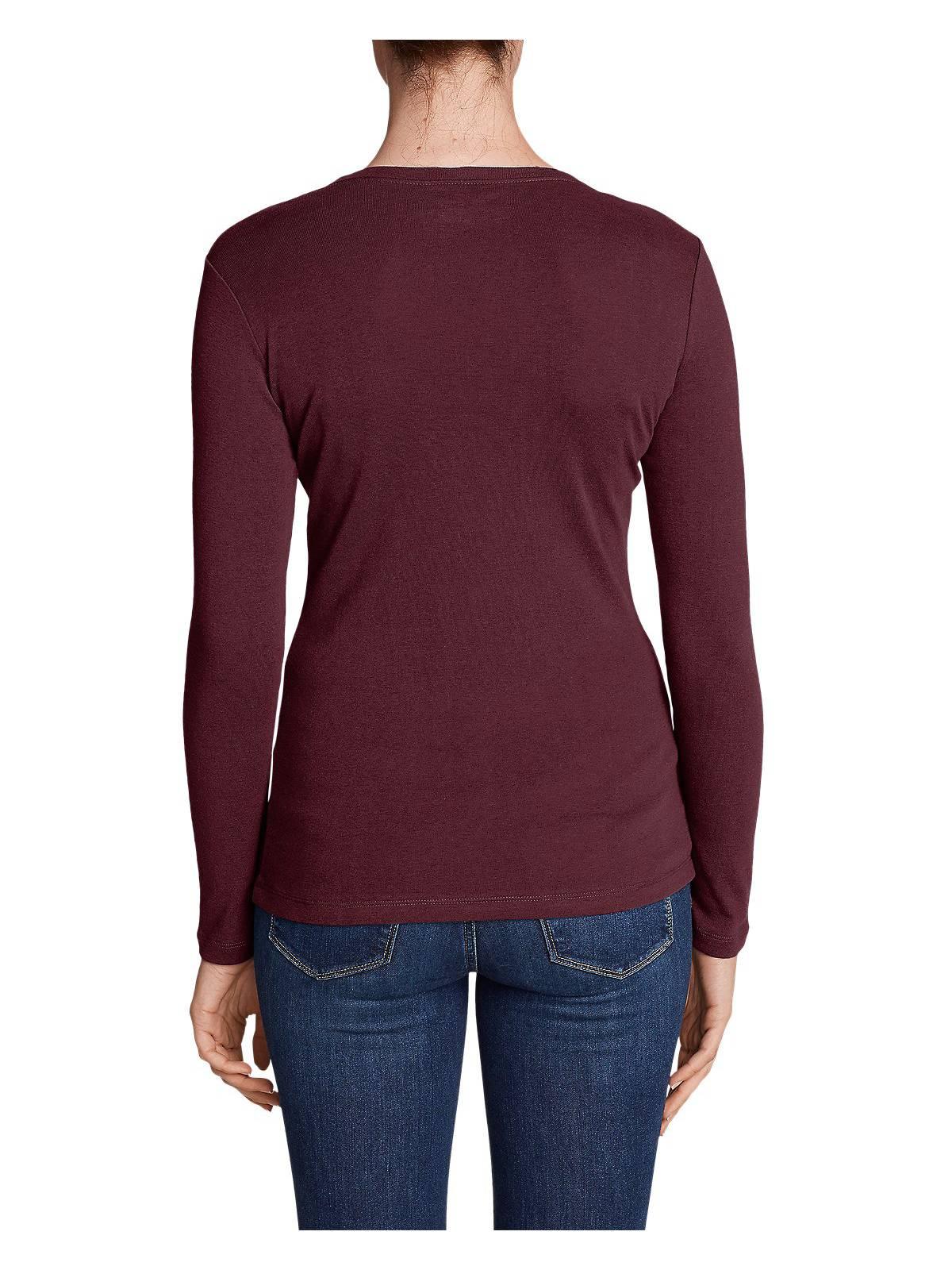 Eddie-Bauer-Women-039-s-Favorite-Long-Sleeve-V-Neck-T-Shirt thumbnail 18