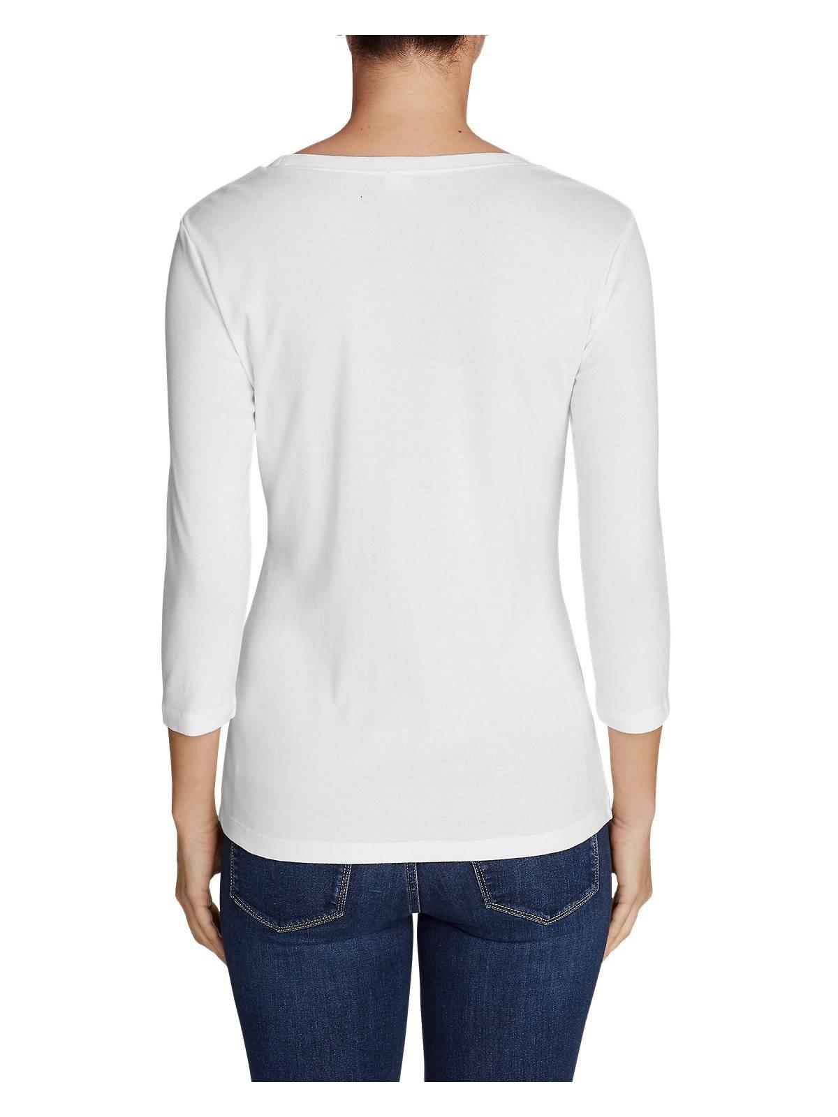 Eddie-Bauer-Women-039-s-Favorite-3-4-Sleeve-Scoop-Neck-T-Shirt thumbnail 22