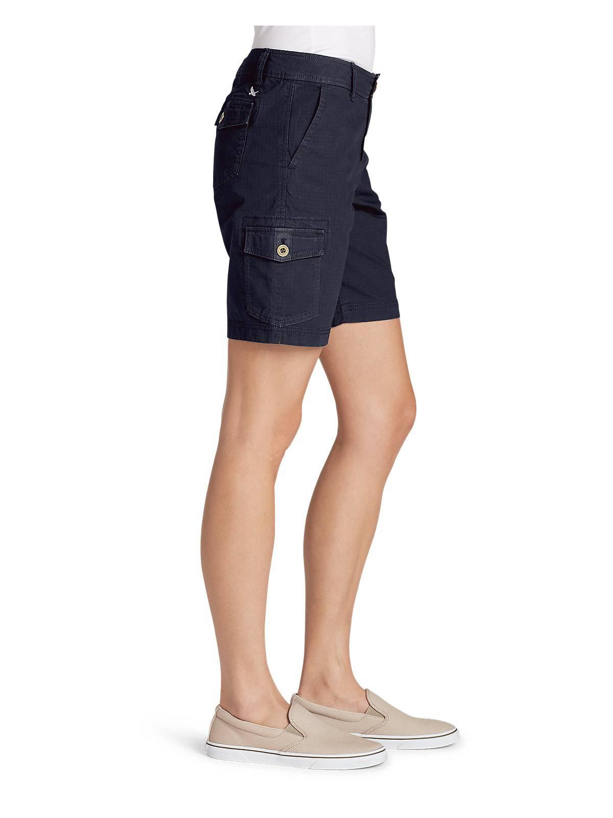 0fdbb383181 Eddie Bauer Women's Adventurer Stretch Ripstop Cargo Shorts ...