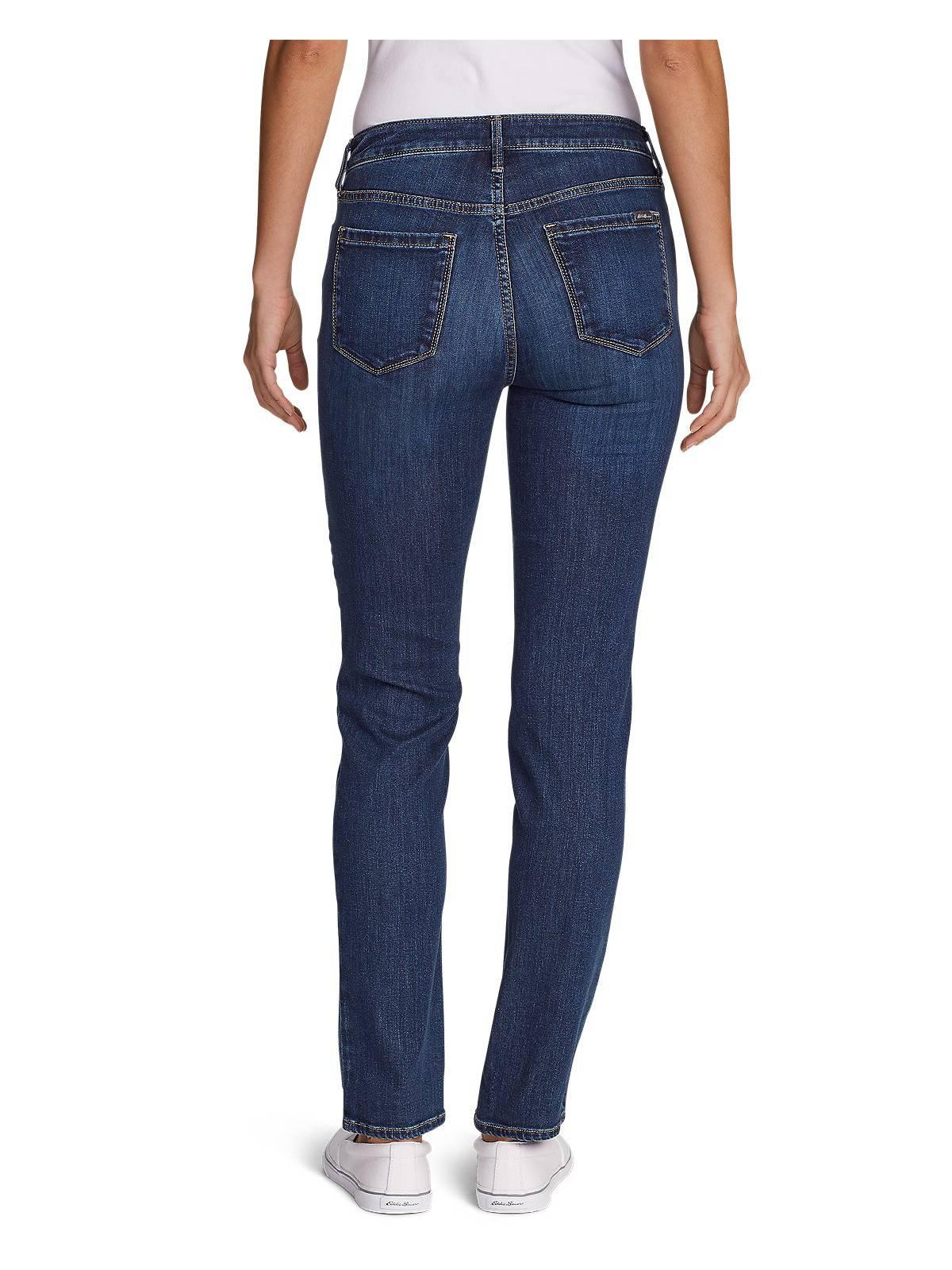 Eddie-Bauer-Women-039-s-Elysian-Slim-Straight-High-Rise-Jeans thumbnail 3