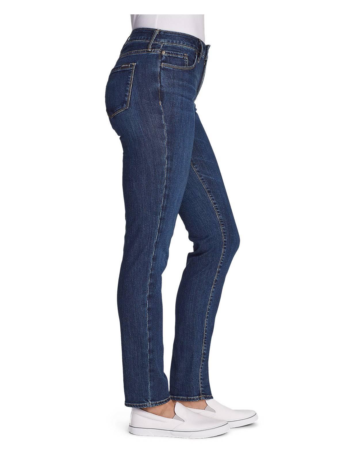 Eddie-Bauer-Women-039-s-Elysian-Slim-Straight-High-Rise-Jeans thumbnail 4