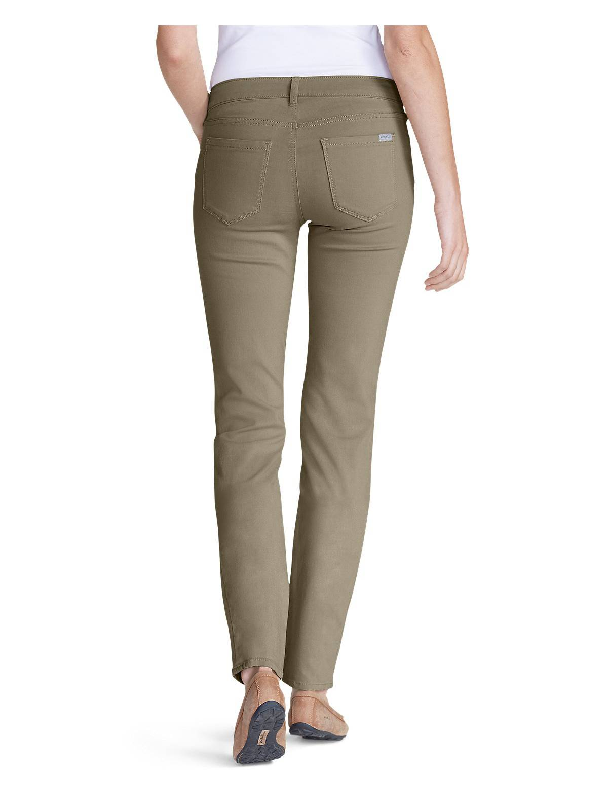 4515b2d211f Eddie Bauer Women's Elysian Twill Slim Straight Jeans - Slightly ...