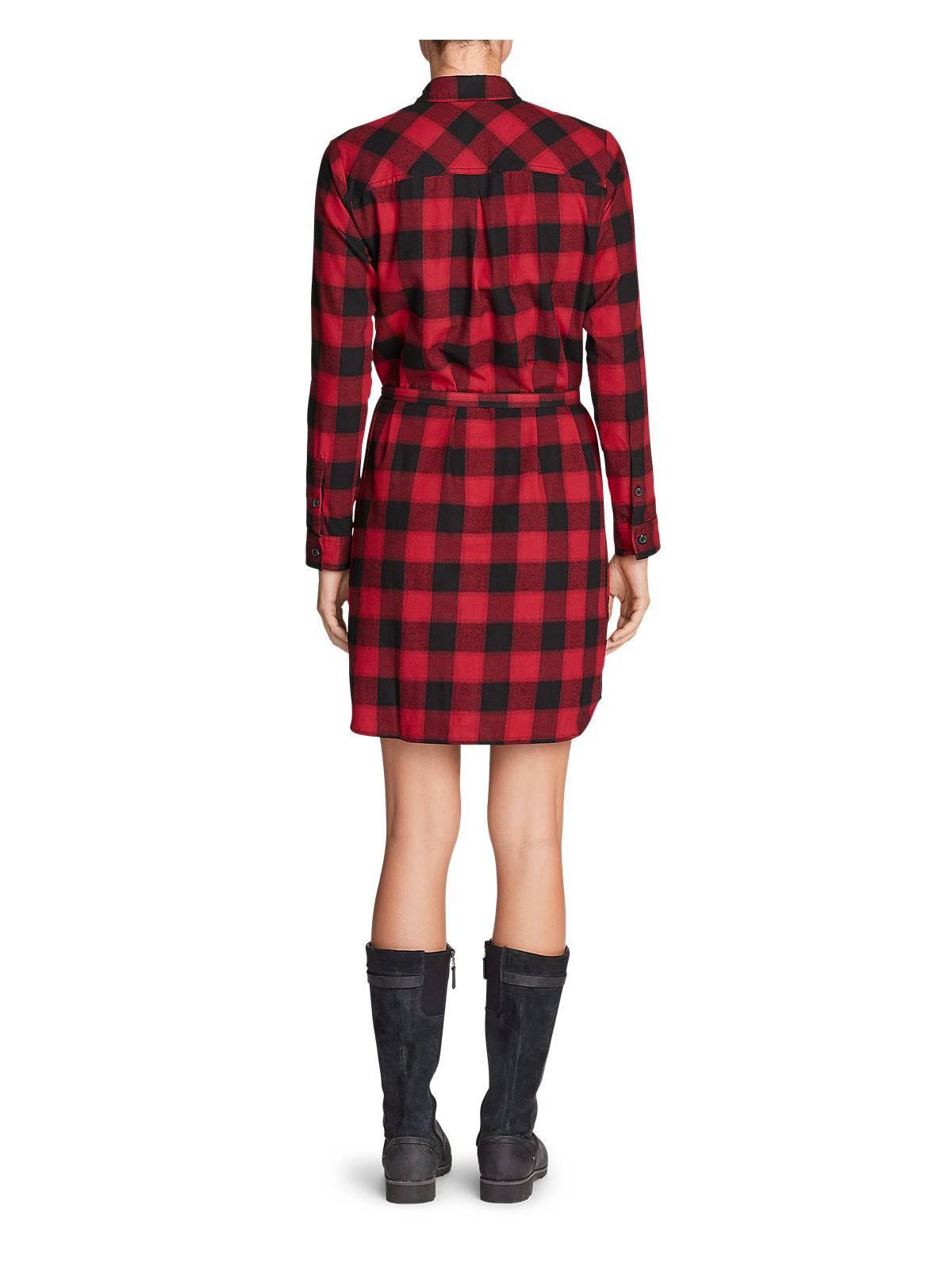 Eddie Bauer Women's Stine's Favorite Flannel Flannel Flannel Shirt Dress 537070