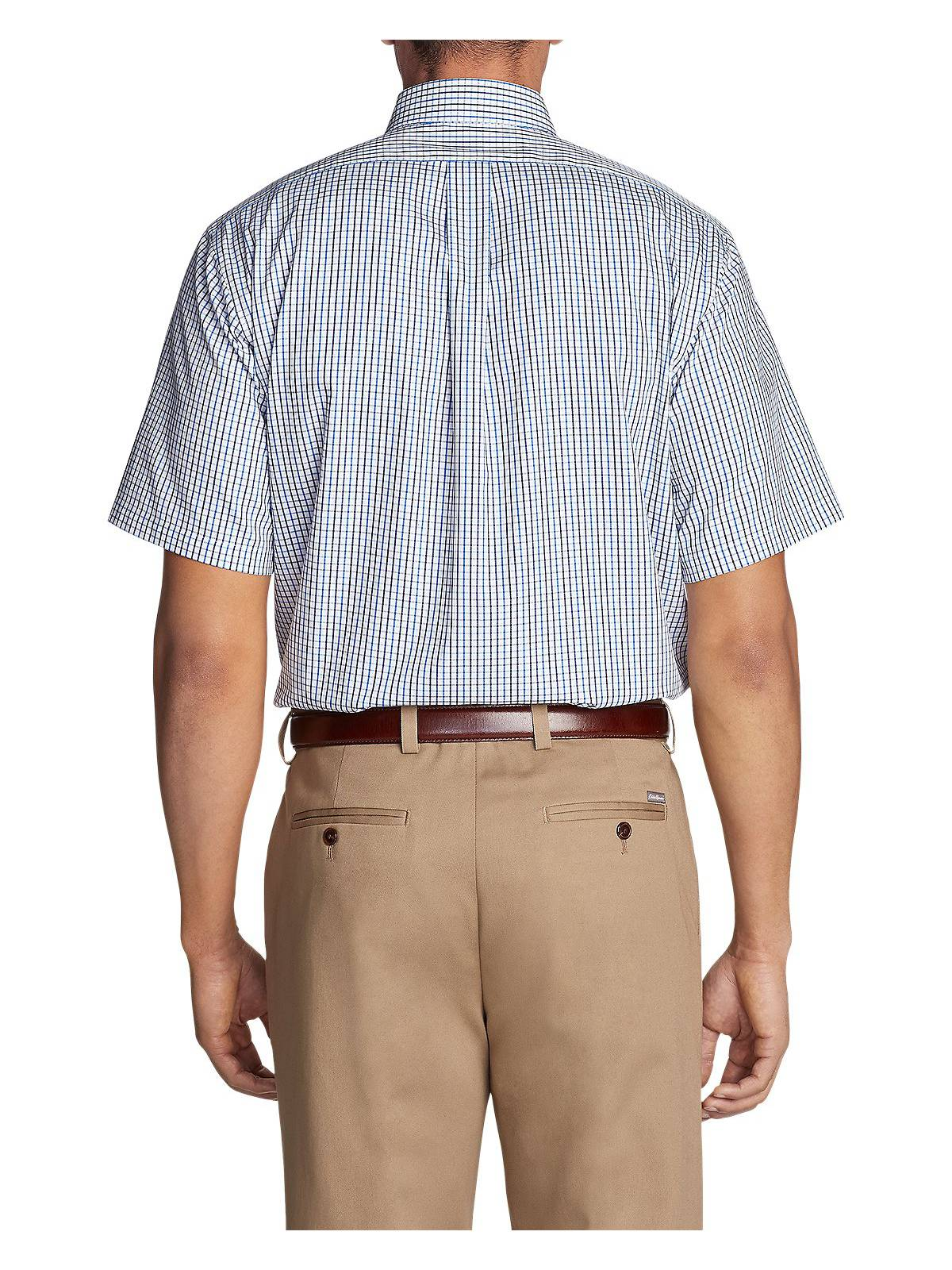 7e266fec08 Eddie Bauer Men s Wrinkle-Free Relaxed Fit Short-Sleeve Pinpoint ...