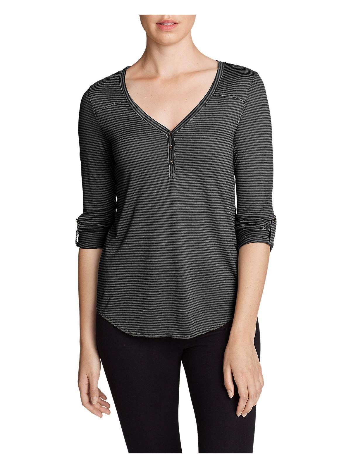 5965cc9727d93 Eddie Bauer Women s Mercer Knit Henley Shirt - Stripe