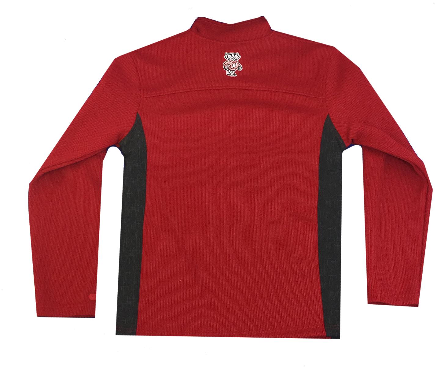 e49a8c28579d Colosseum Wisconsin Badgers Mens Advantage Quarter Zip Pullover - Trenz  Shirt Company