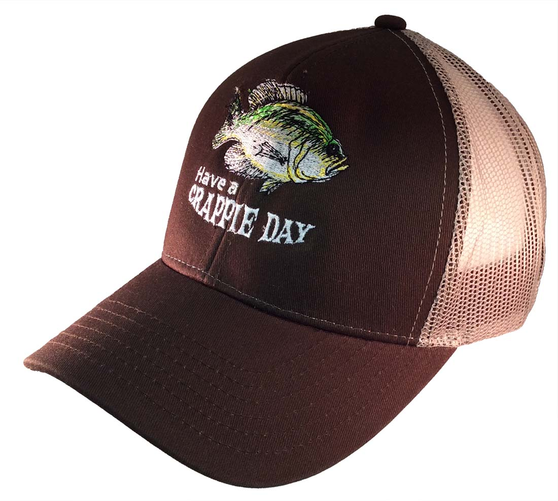 4eb71383bd30b Have A Crappie Day Embroidered Trucker Hat-Brown