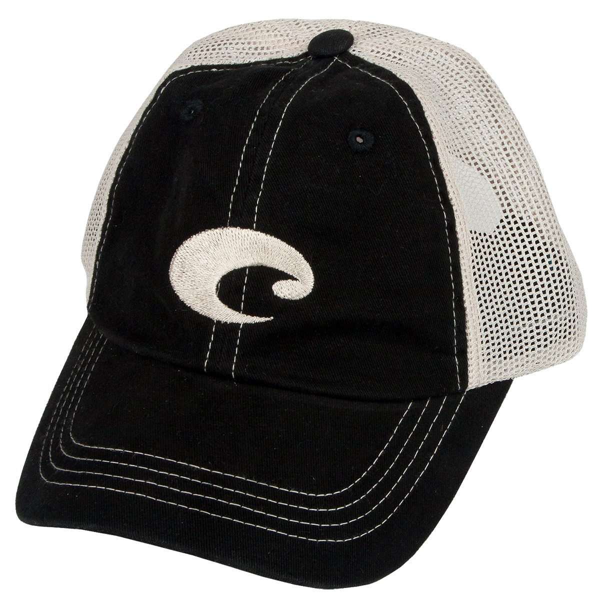 01bf85cbbd915 Details about Costa Del Mar Mesh Hat-Black