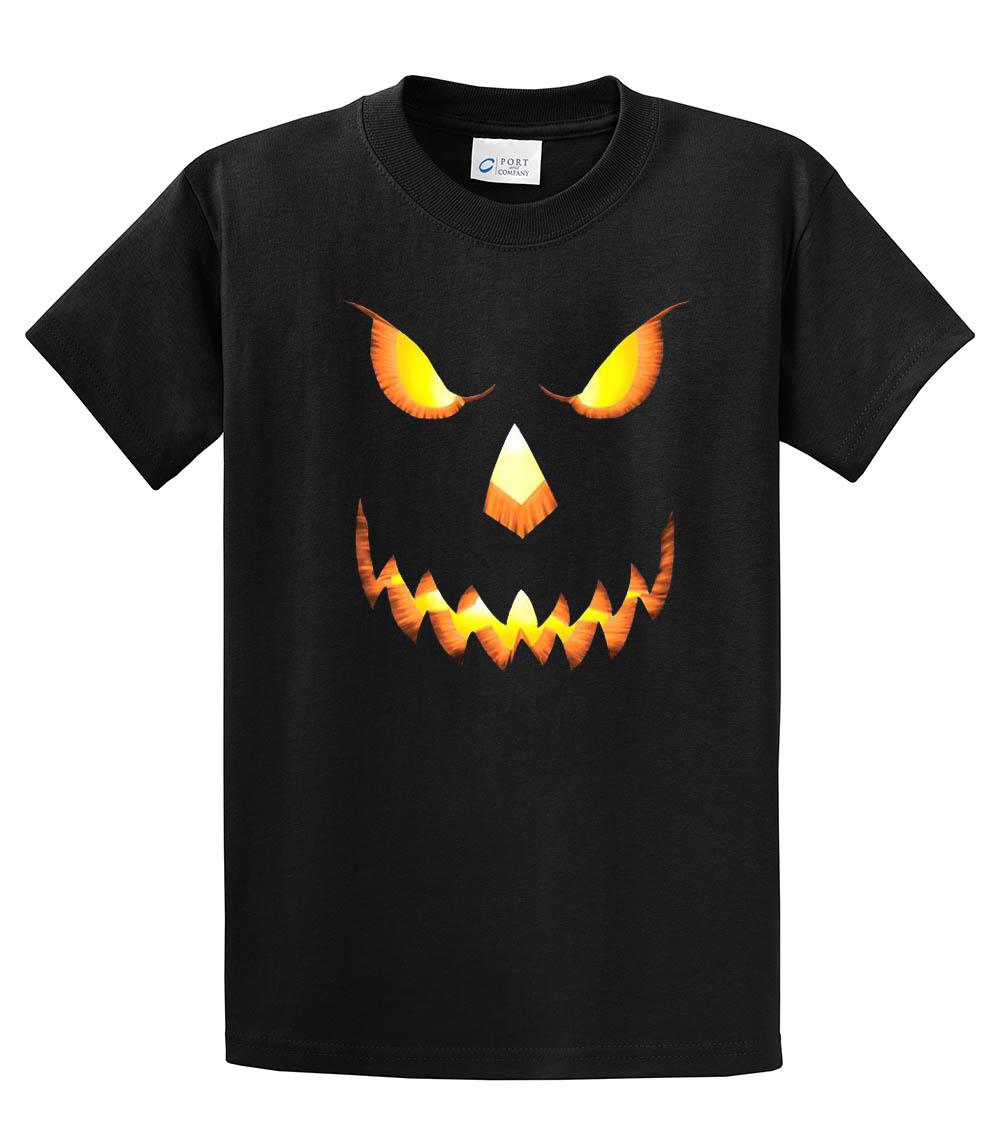 296e1ec6a1ea8 Halloween T-Shirt Scary Pumpkin Face - Trenz Shirt Company