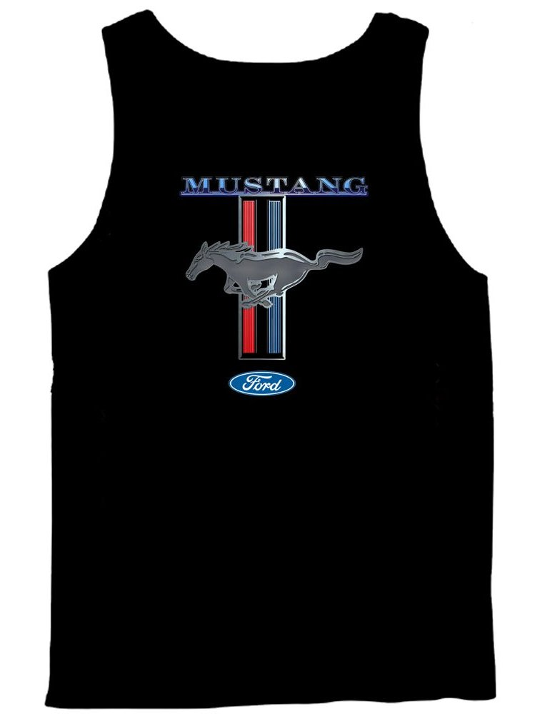ca09f390 Ford Mustang Tank Top Ford Mustang Pony & Stripes | eBay