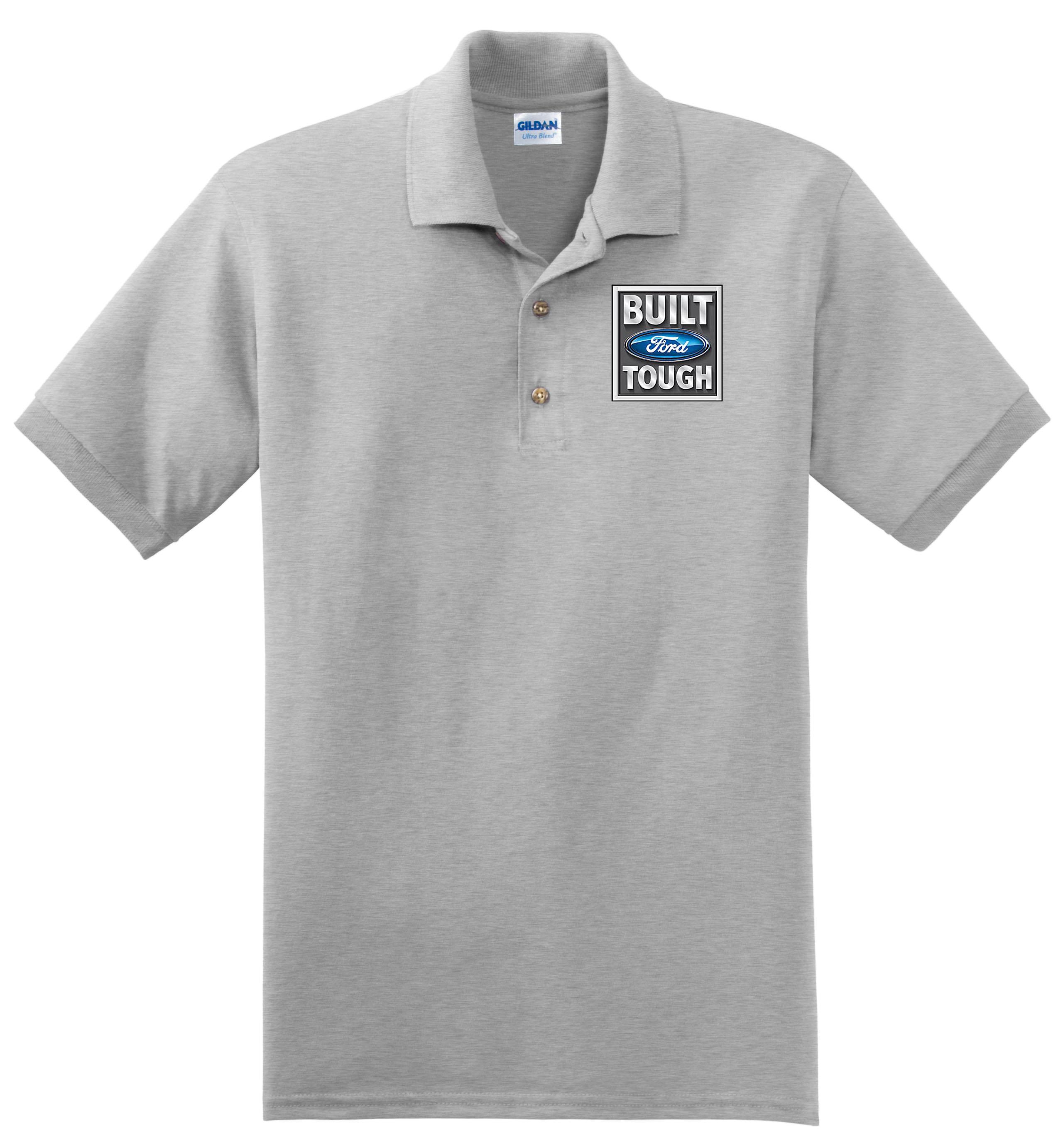 57edf684f Mens Ford Tough Logo Golf Golfing Shirt Polo Employee Tee S-XXXL | eBay