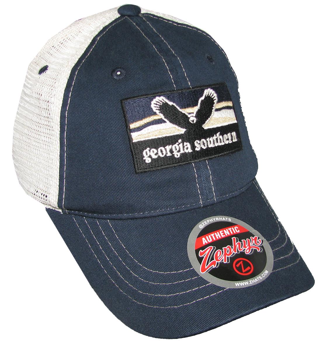 45e6c0be694 ... 50% off georgia southern university landmark washed mesh snap back hat  trenz shirt company 389f6 ...