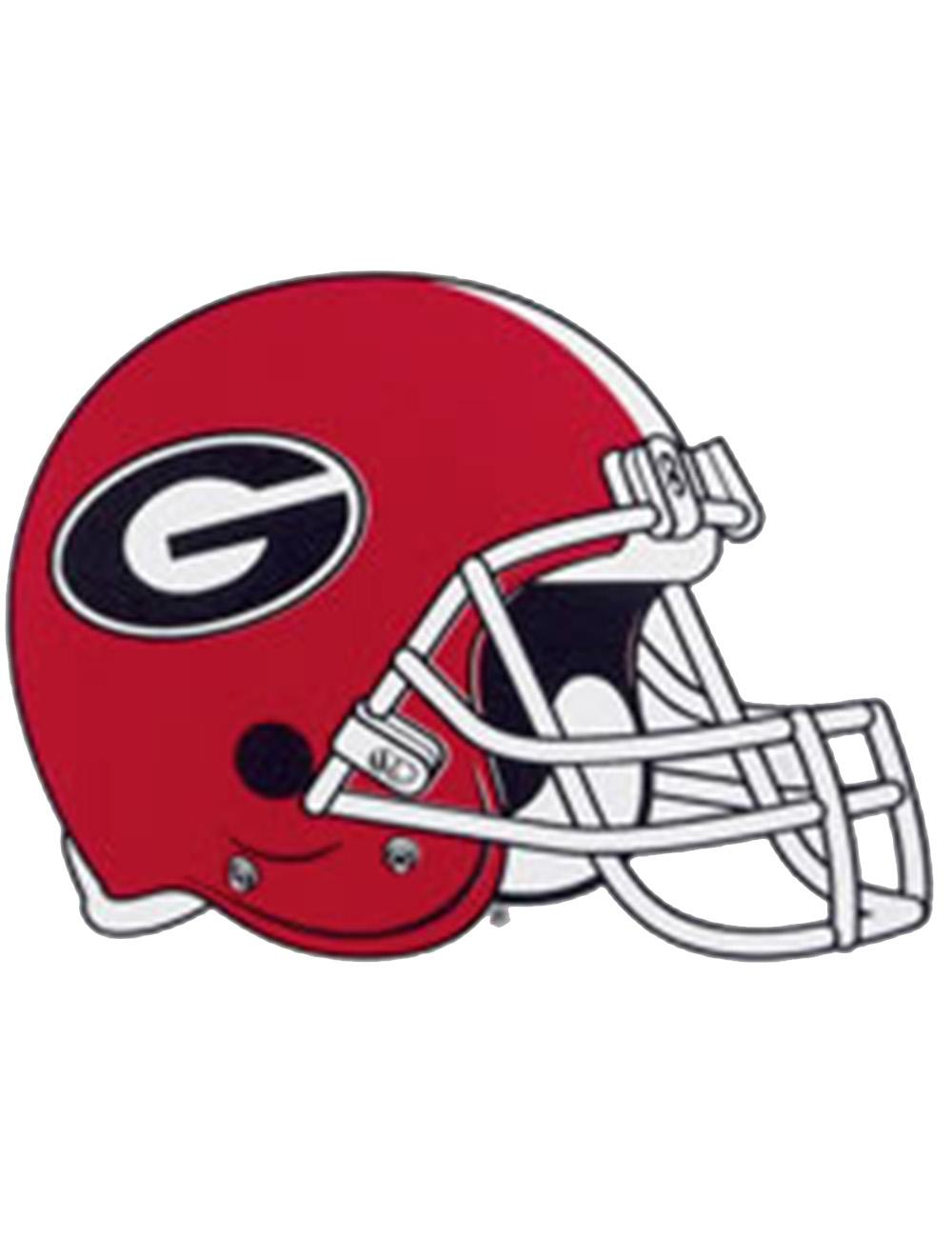 "GEORGIA BULLDOGS ***MINI*** Football Helmet Nameplate /""BIKE/"" Decal//Sticker"