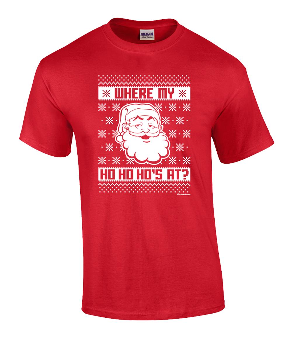 Funny-Santa-Ho-Ho-Ho-Ugly-Christmas-Sweater-Adult-T-shirt