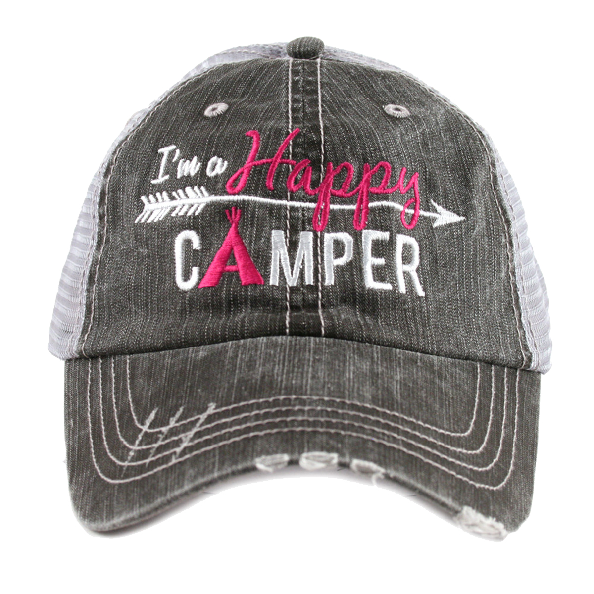 90c165f33c1c5 Details about Katydid Happy Camper Women s Trucker Hat