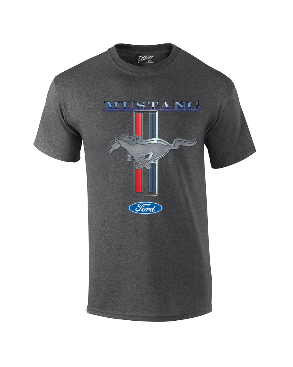 ford mustang t shirt ford mustang pony stripes ebay. Black Bedroom Furniture Sets. Home Design Ideas
