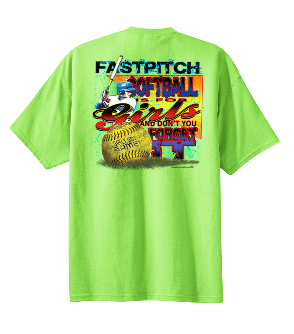 Womens Ladies Softball T Shirt Fastpitch Is For Girls Don T You