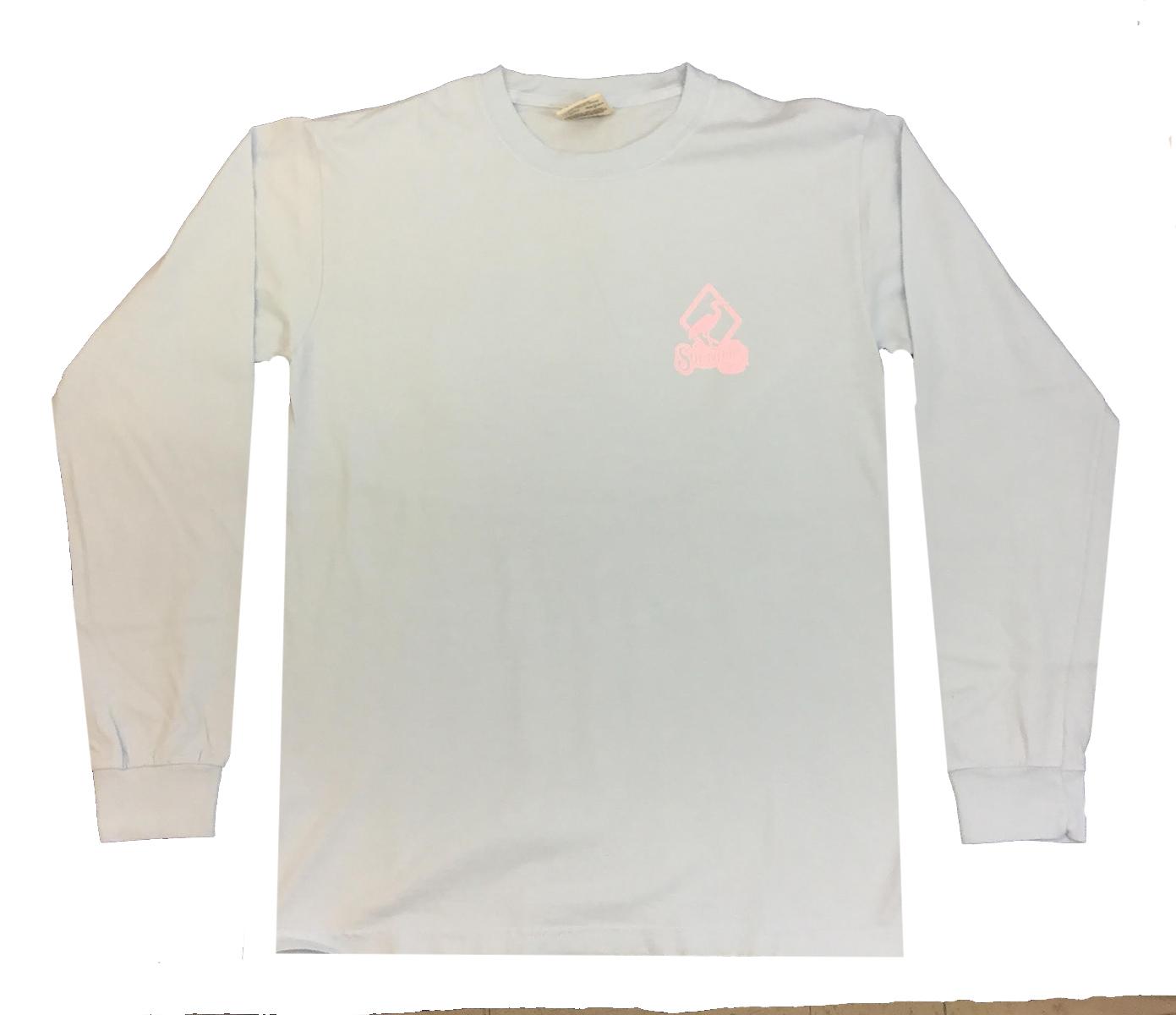 2e993357e33 Southern Strut Breast Cancer Awareness Mason Jars Adult Long Sleeve T-shirt -chambray-medium