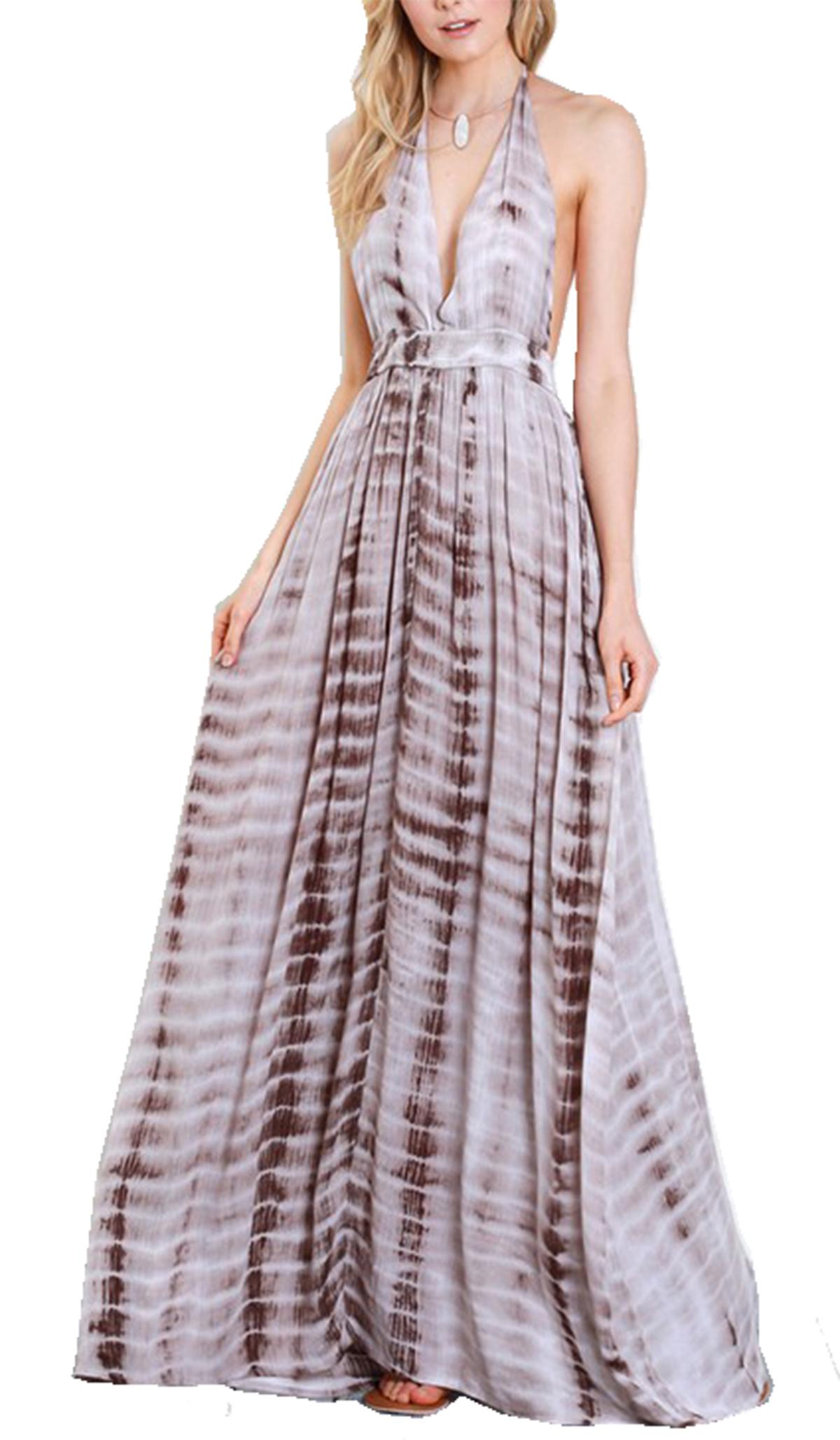 c999ddf9c0d Wishlist Womens Tie Dye Plunge Cami Maxi Dress - Trenz Shirt Company