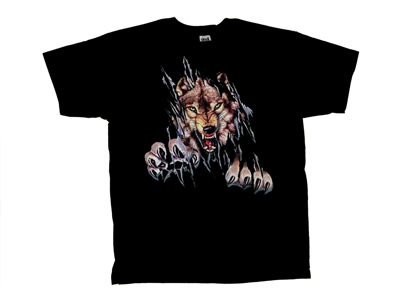 Wolf T Shirt Rip Out Shred Wolves Tee