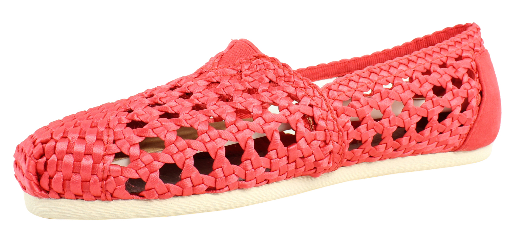 New TOMS Womens 10007571_7.5 Red Loafers Size 7.5