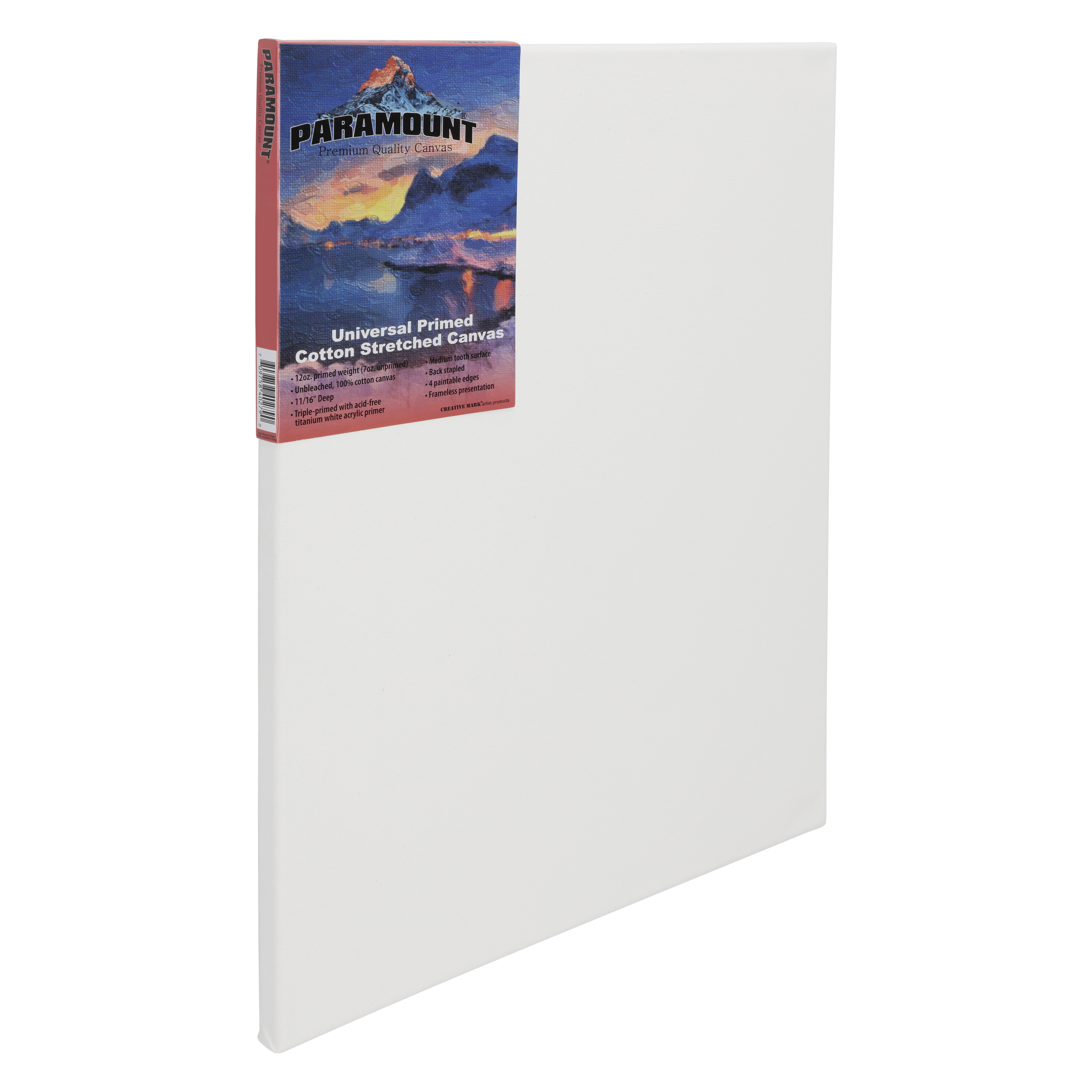 12x16 2-Pack BLACK Practica Economy Pre Stretched Canvas Cotton Artist Acid Free Primed Painting Canvas 5//8 Deep