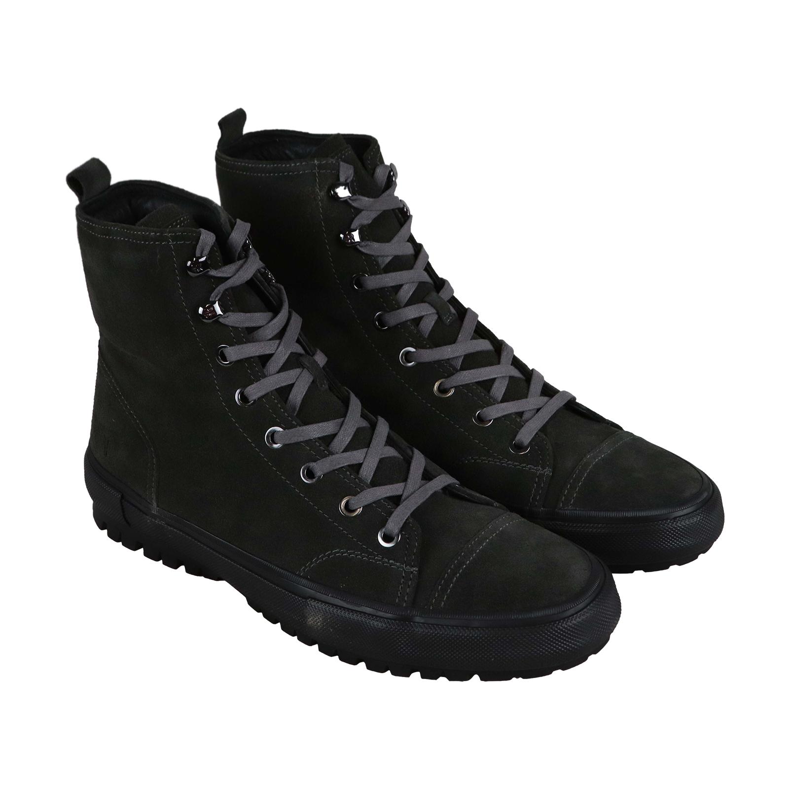 Frye Ryan militar para hombres gris de Ante Zapatos botas Con Cordones táctico