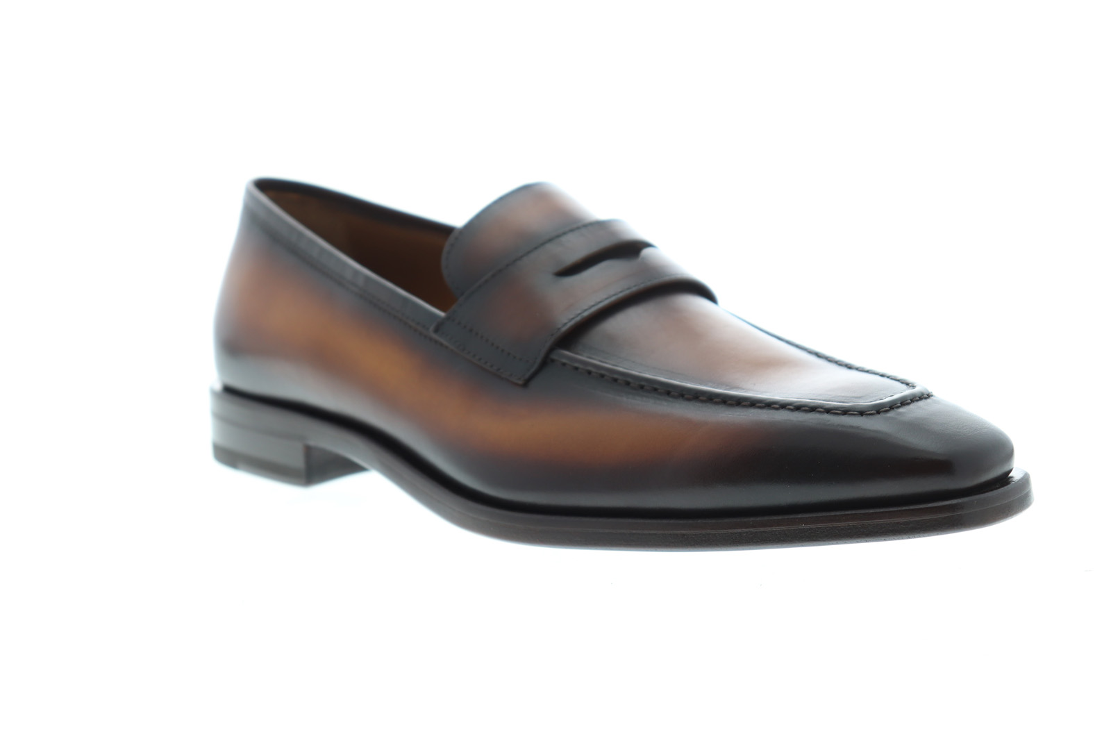 Bruno Magli Corrado Mens Brown Leather Casual new shoes Slip On Loafers shoes