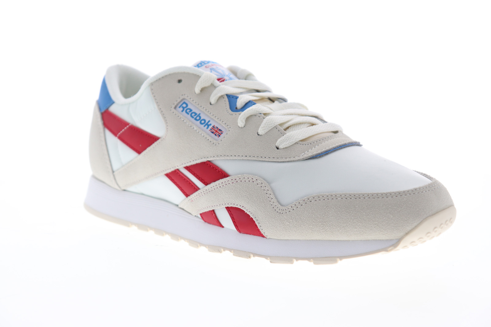 new styles 9cdc2 7a83f Details about Reebok Classic Nylon Mens Beige Suede & Nylon Low Top  Sneakers Shoes