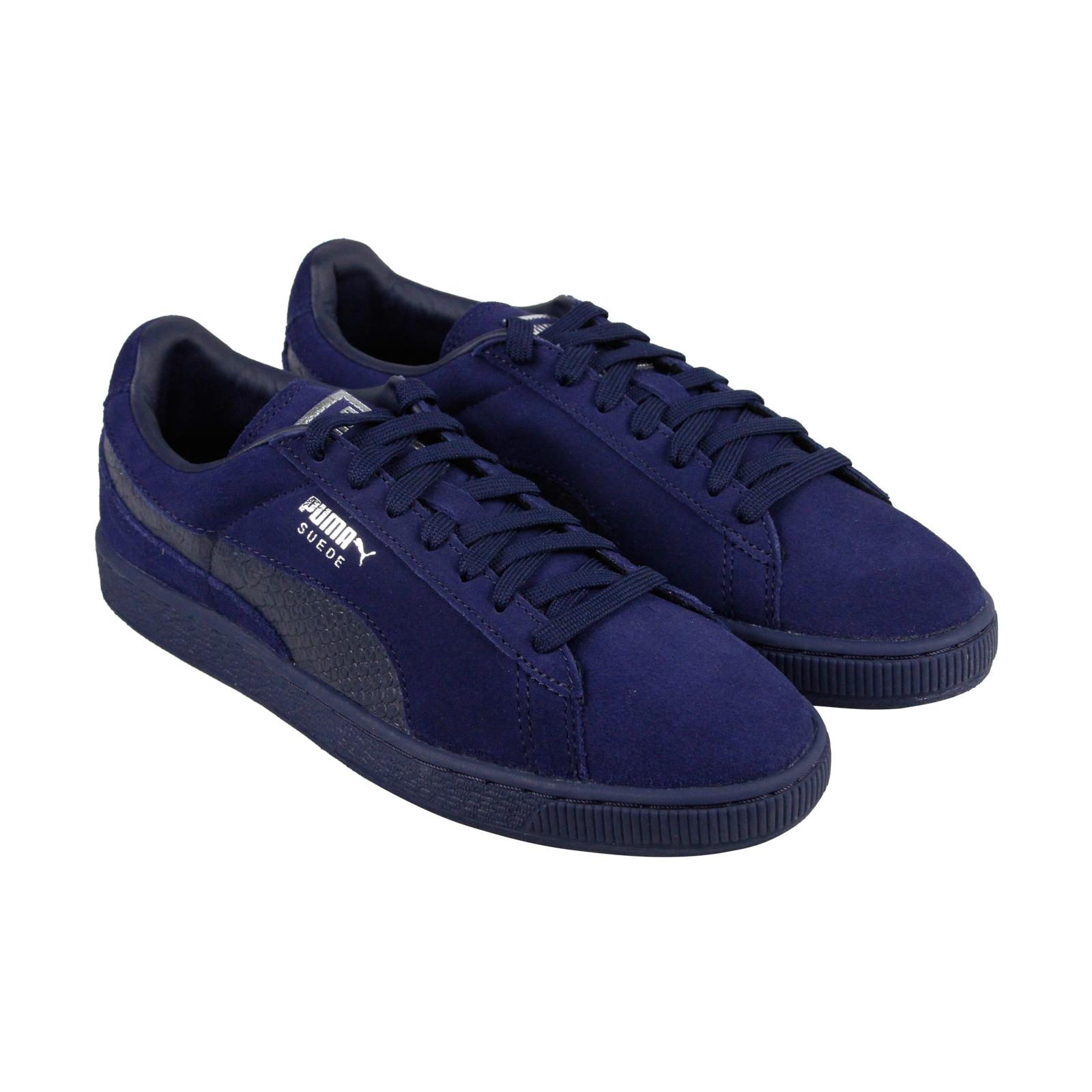 Puma mono reptil Hombre Azul Suede Lace Up Up Lace zapatos de liquidación de temporada zapatillas 9,5 e68003