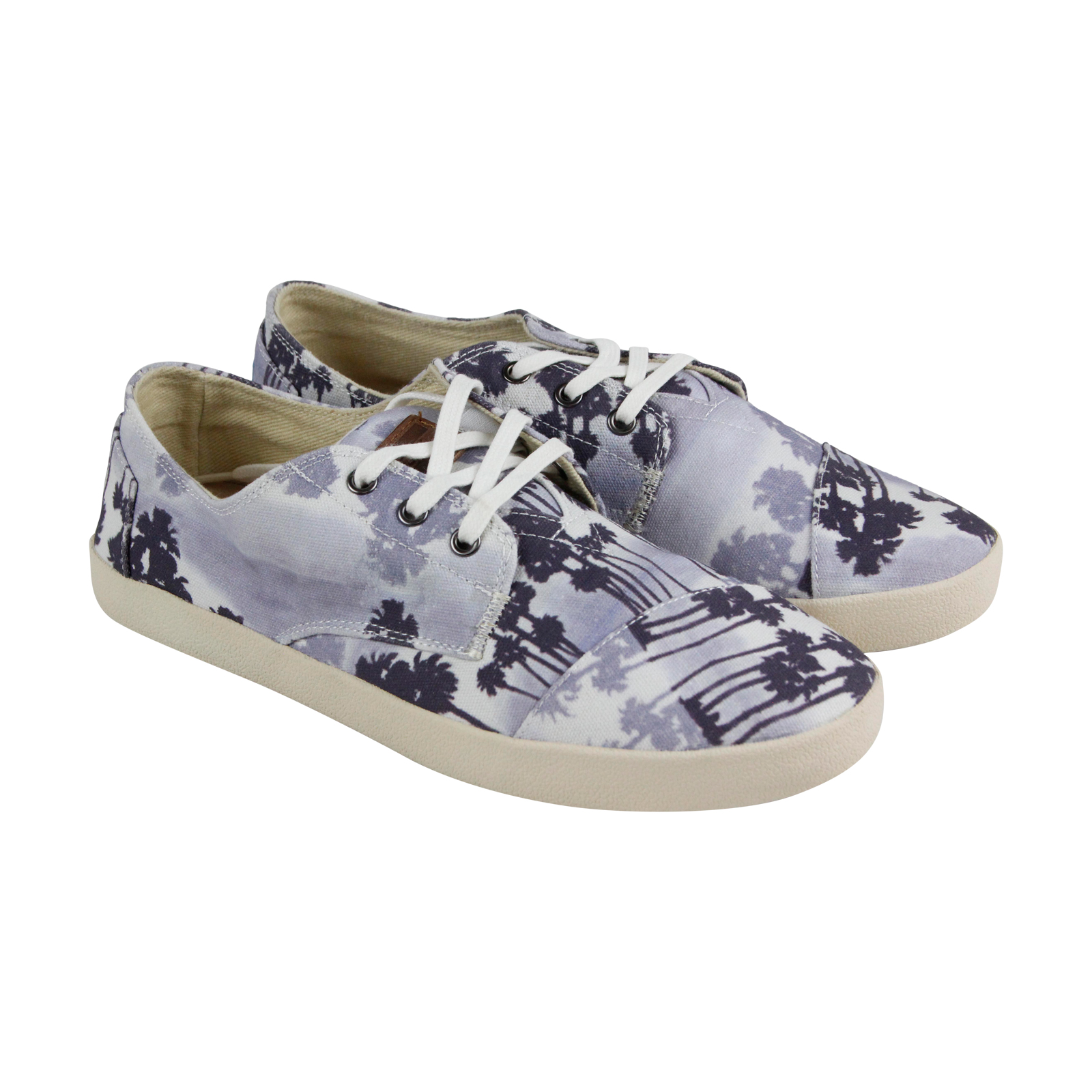 e4feeecc4fa TOMS Toms Paseos Mens Blue Canvas Lace Up Sneakers Shoes