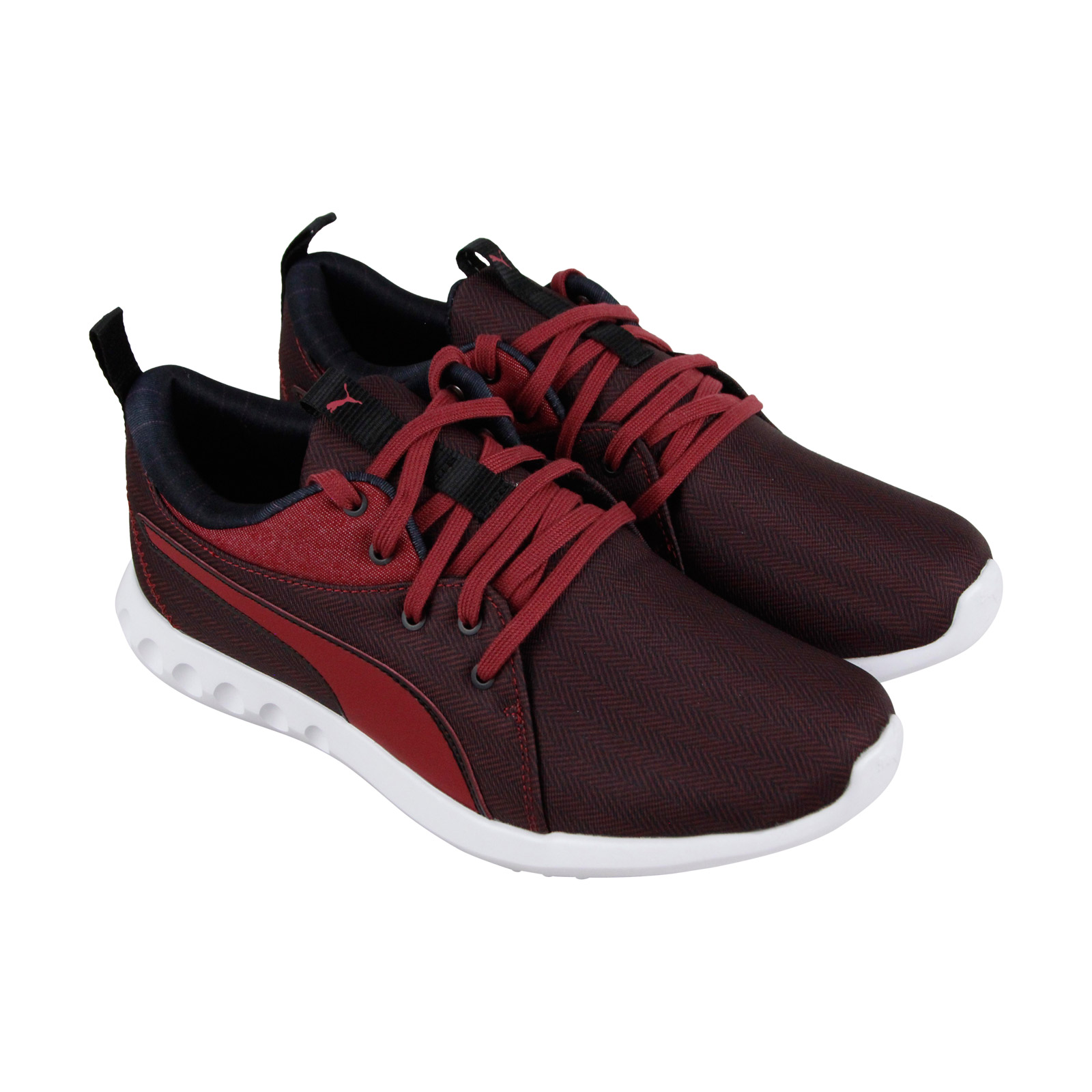 ceeb3384b3cc Puma Carson 2 Menswear Mens Red Textile Low Top Lace Up Sneakers Shoes