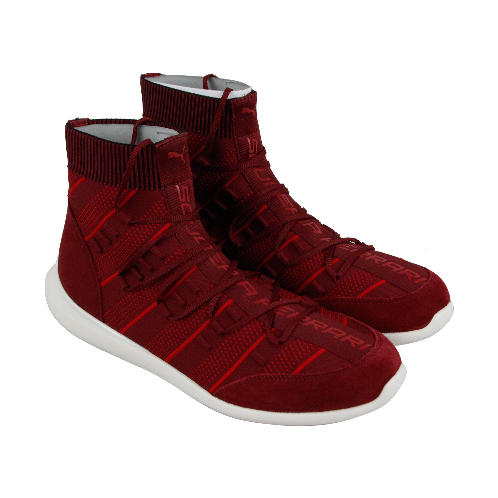 Puma Sf Evo Cat I Fusefit Uomo Red Textile & Suede Athletic Training Scarpe
