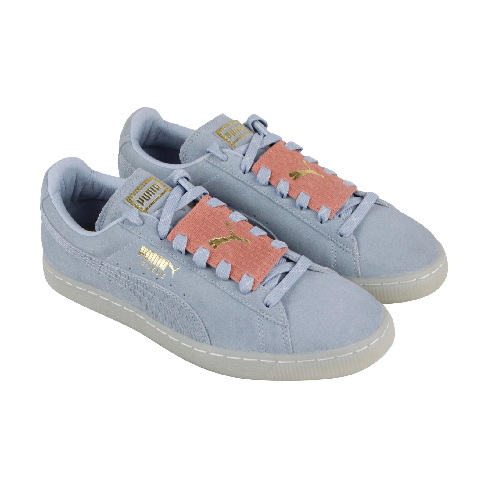 23ef9f588f1a Puma Suede Epic Remix Mens Blue Suede Lace Up Trainers Shoes