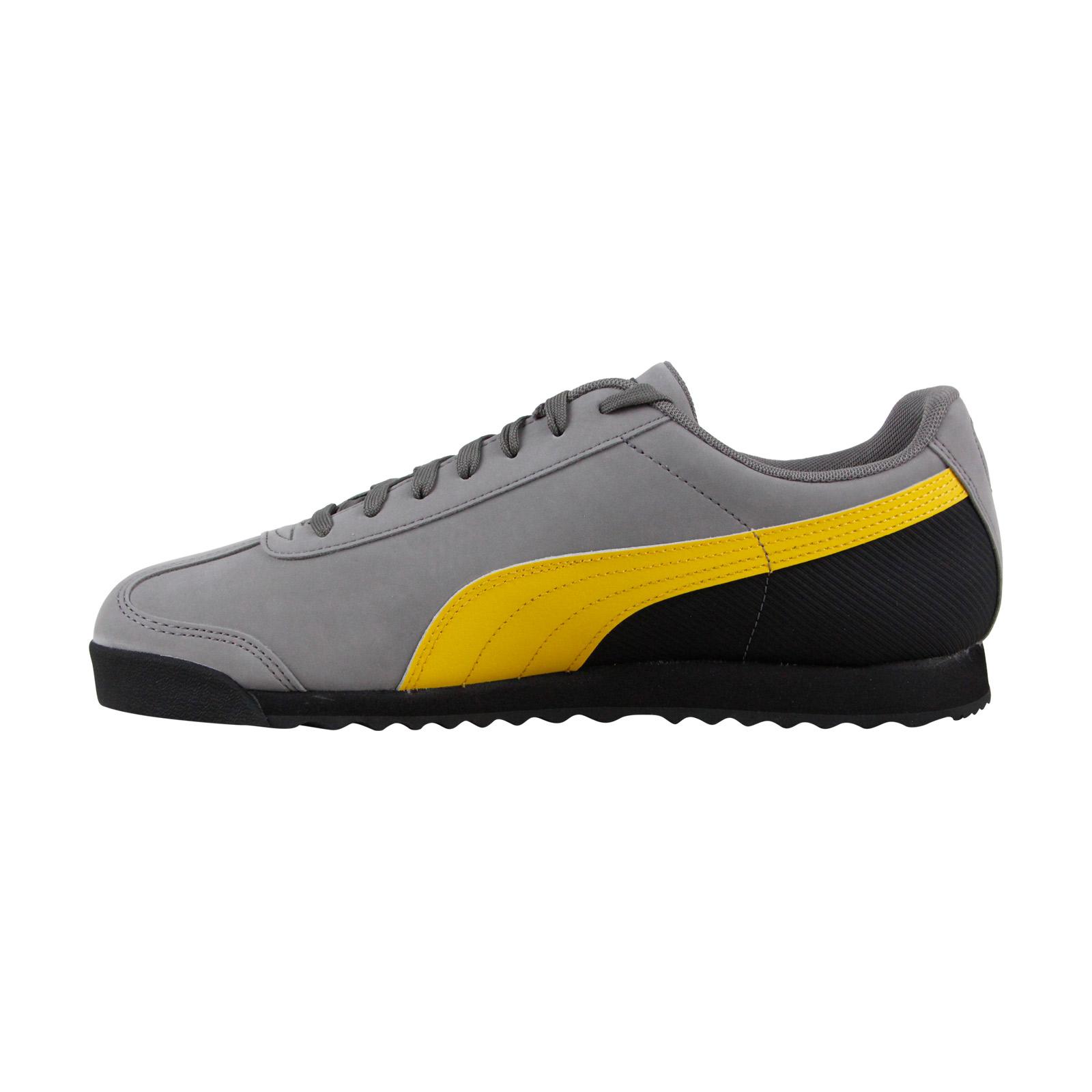 13d43c3b25 PUMA ROMA RETRO Mens Gray Nubuck Low Top Lace Up Sneakers Shoes