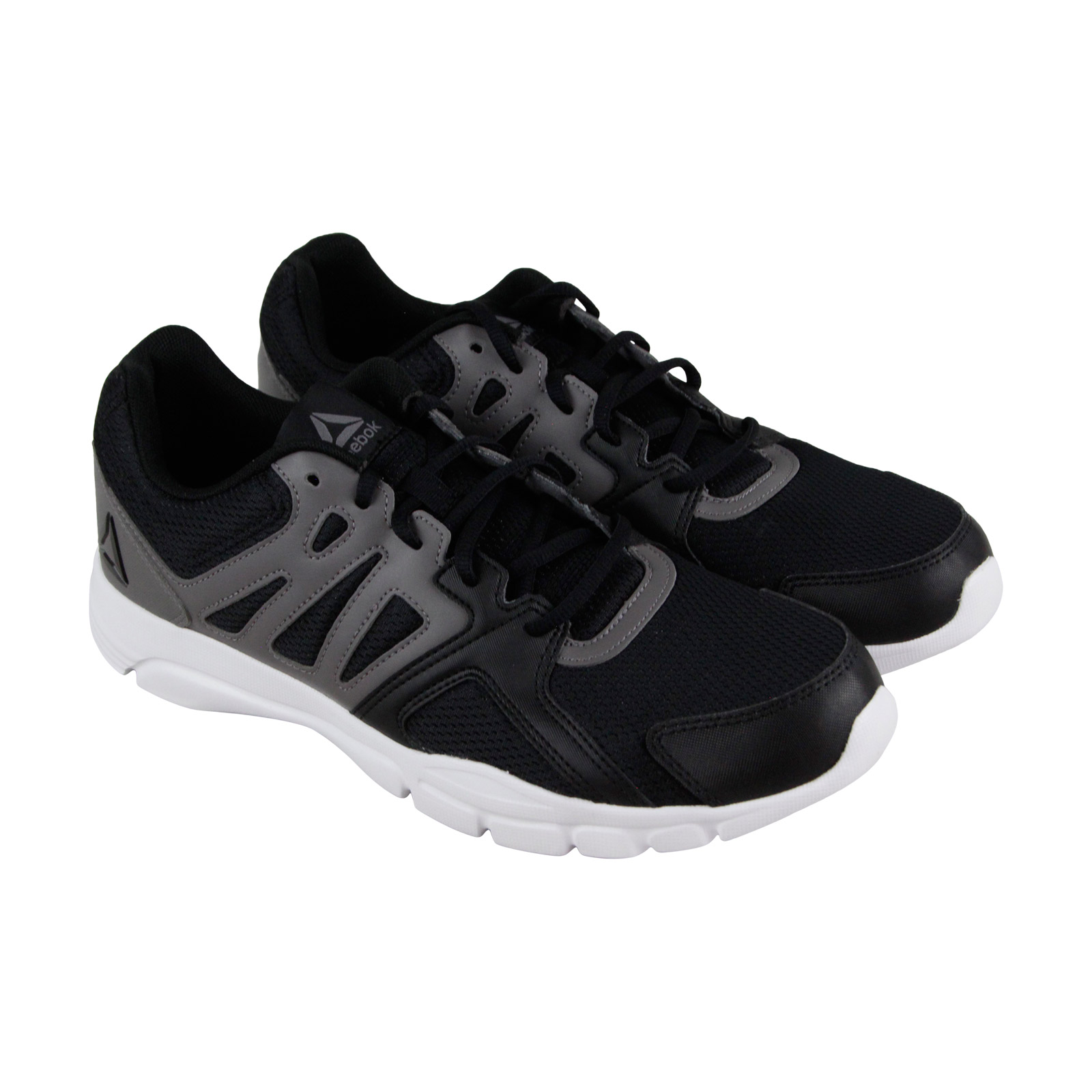 e90b91b119271b Details about Reebok Trainfusion Nine 3.0 Mens Black Mesh Athletic Lace Up  Running Shoes