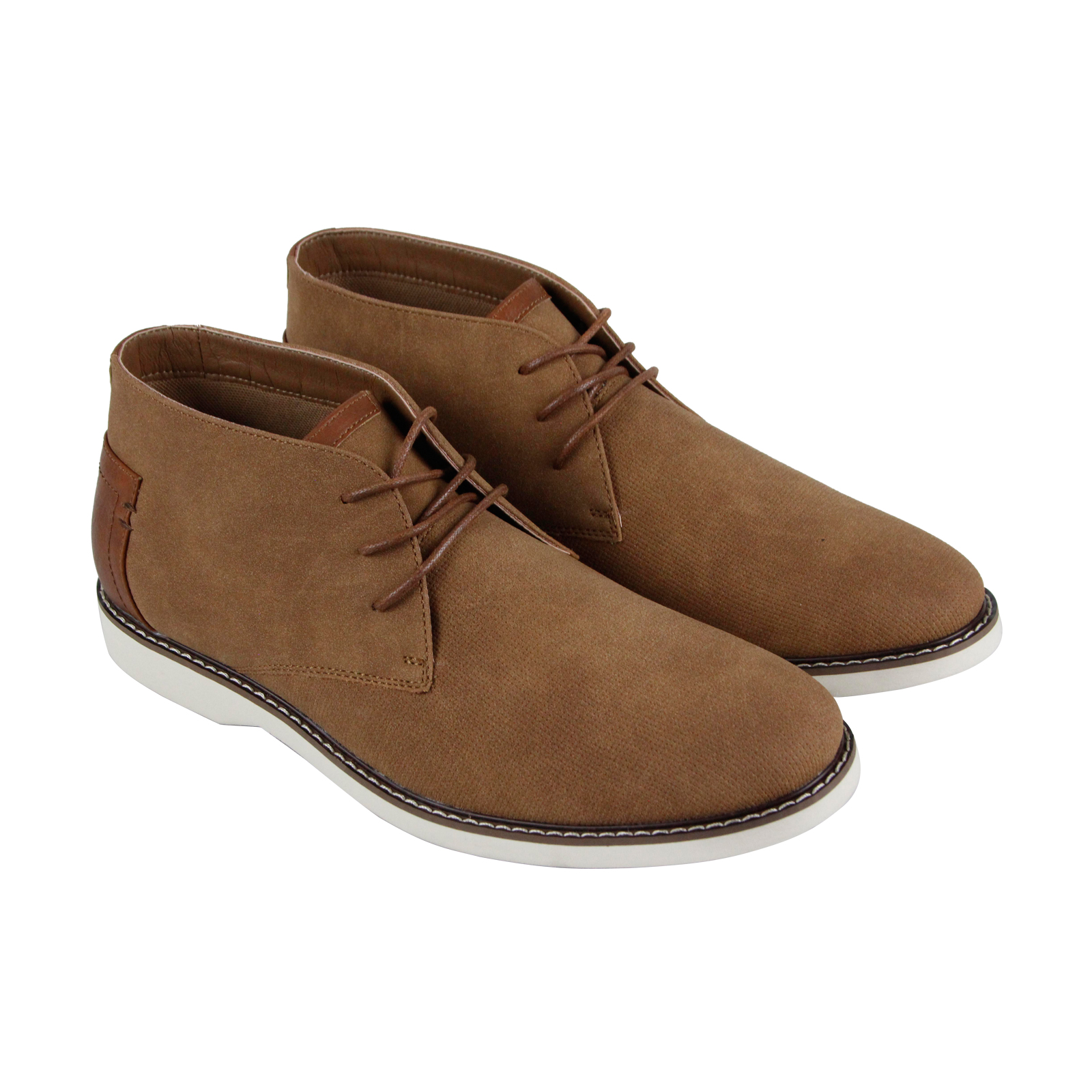db277eb05fa Details about Steve Madden M-Dodge Mens Brown Nubuck Casual Dress Lace Up  Chukkas Shoes