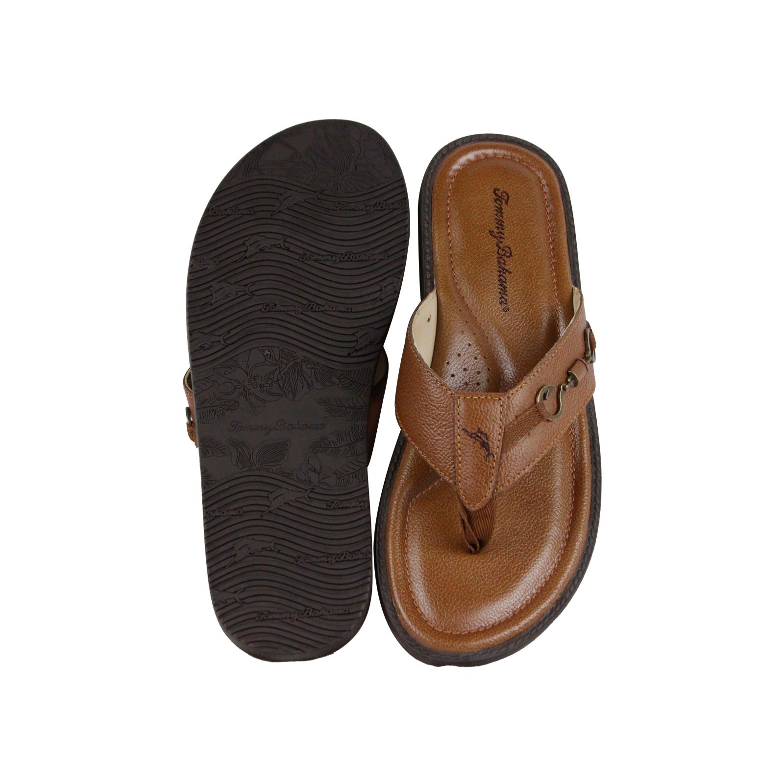 2155335bcd3d Tommy Bahama Tommy Bahama Belize Vintage Mens Brown Leather Flip ...